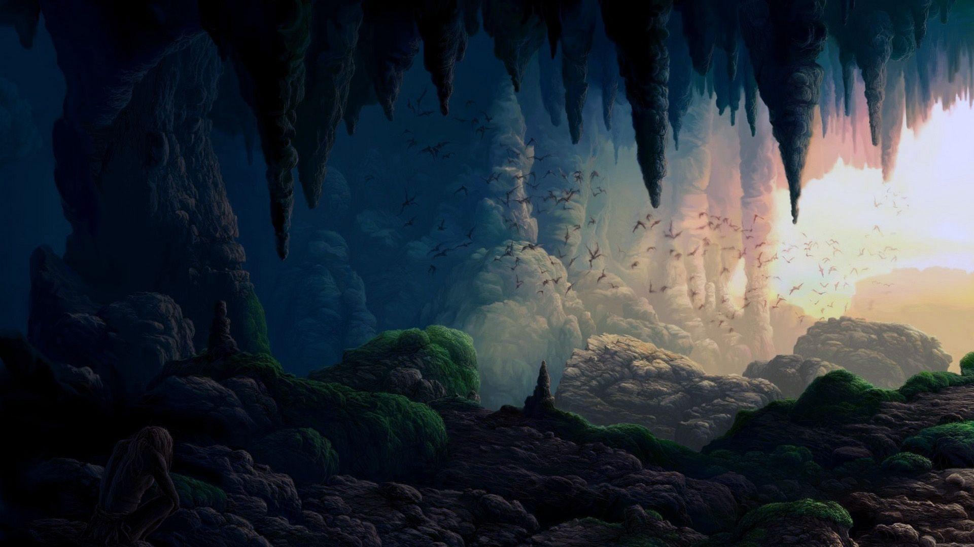 Cave desktop background free