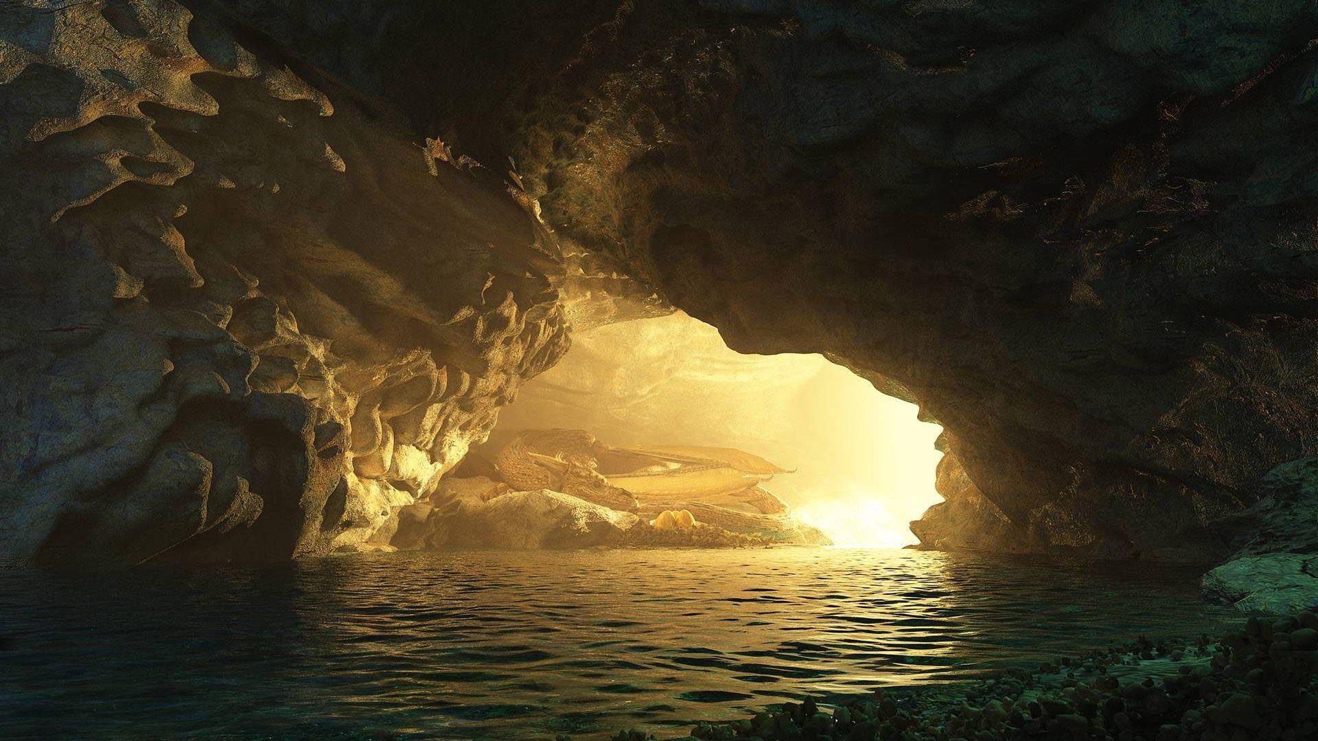 Cave desktop background