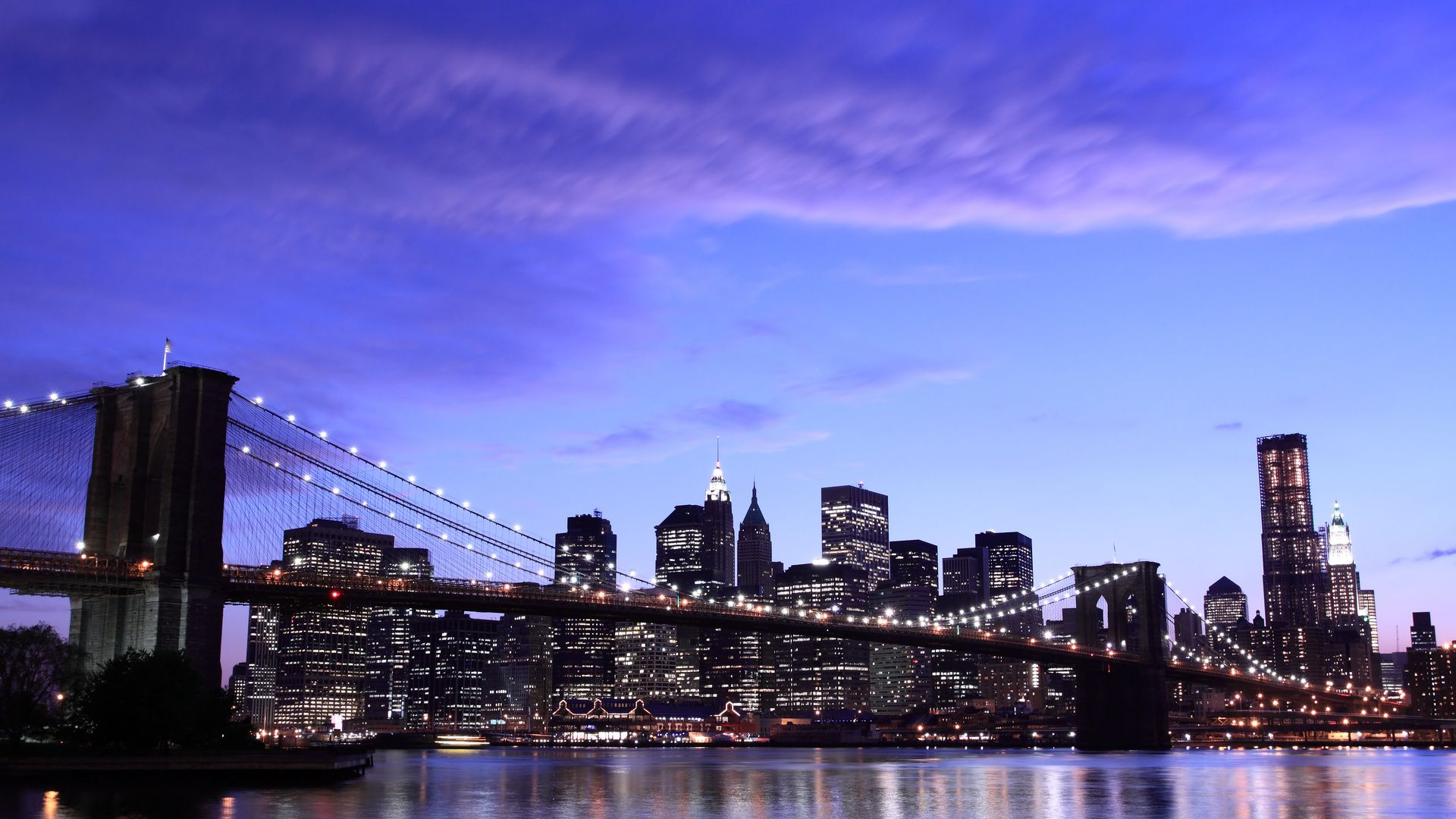 Nyc Skyline full screen hd wallpaper