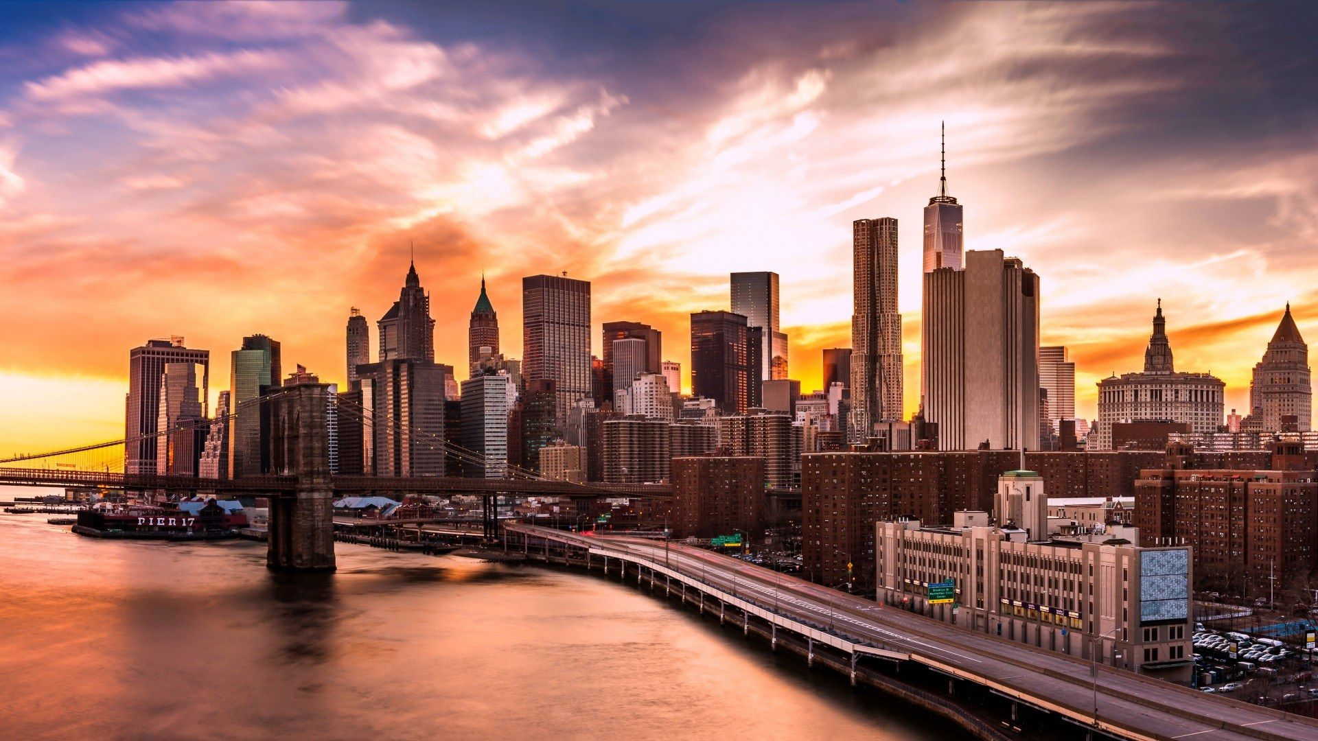 Nyc Skyline screen wallpaper