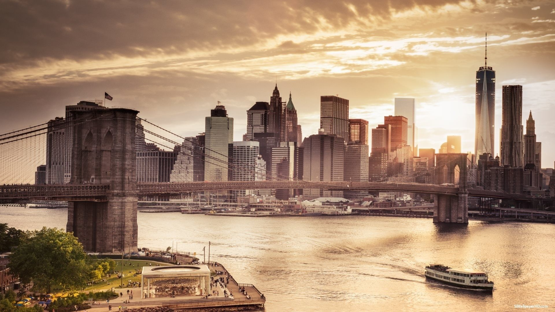 Nyc Skyline download free wallpapers for pc in hd