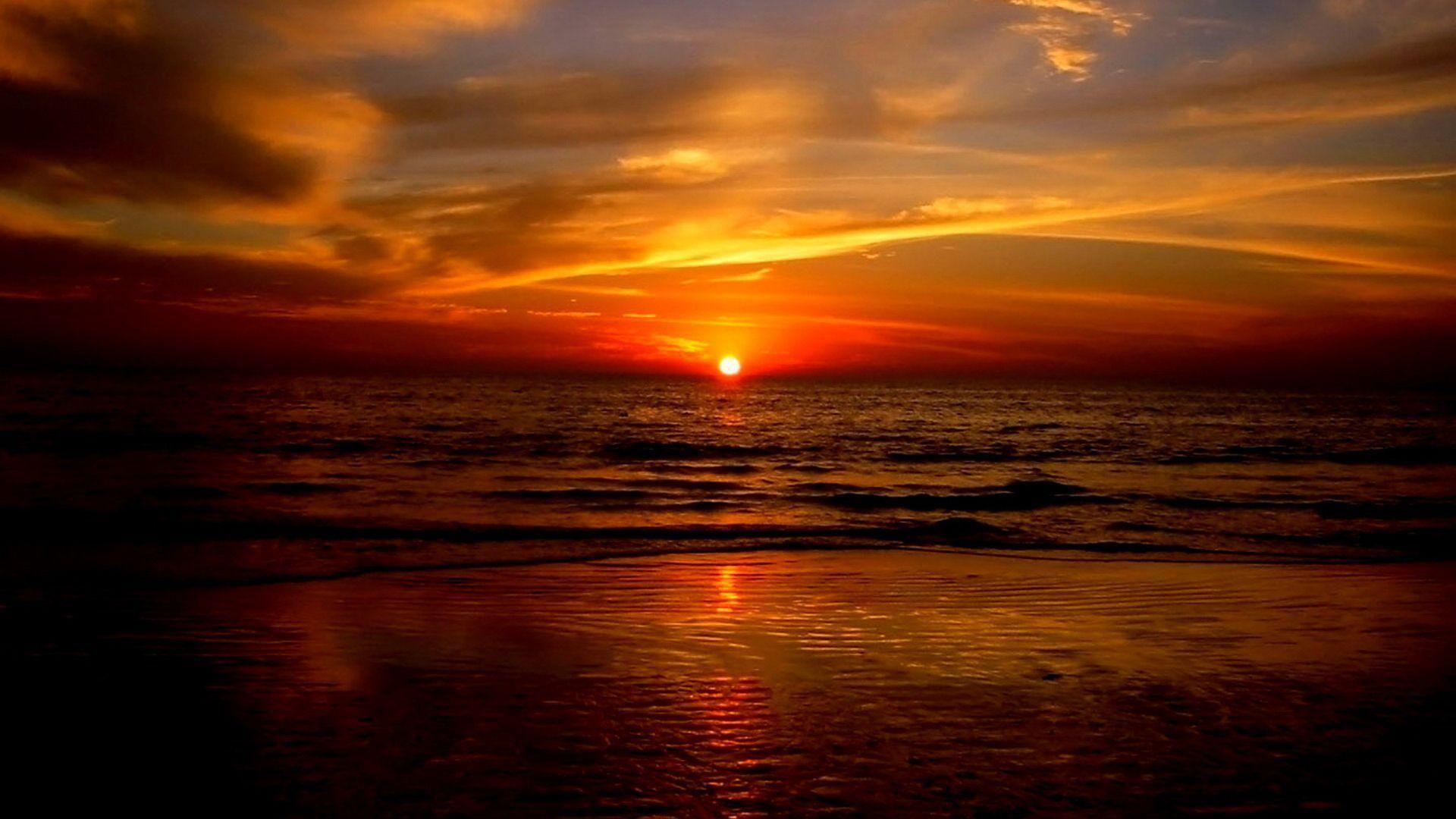 Ocean Sunset wallpaper image
