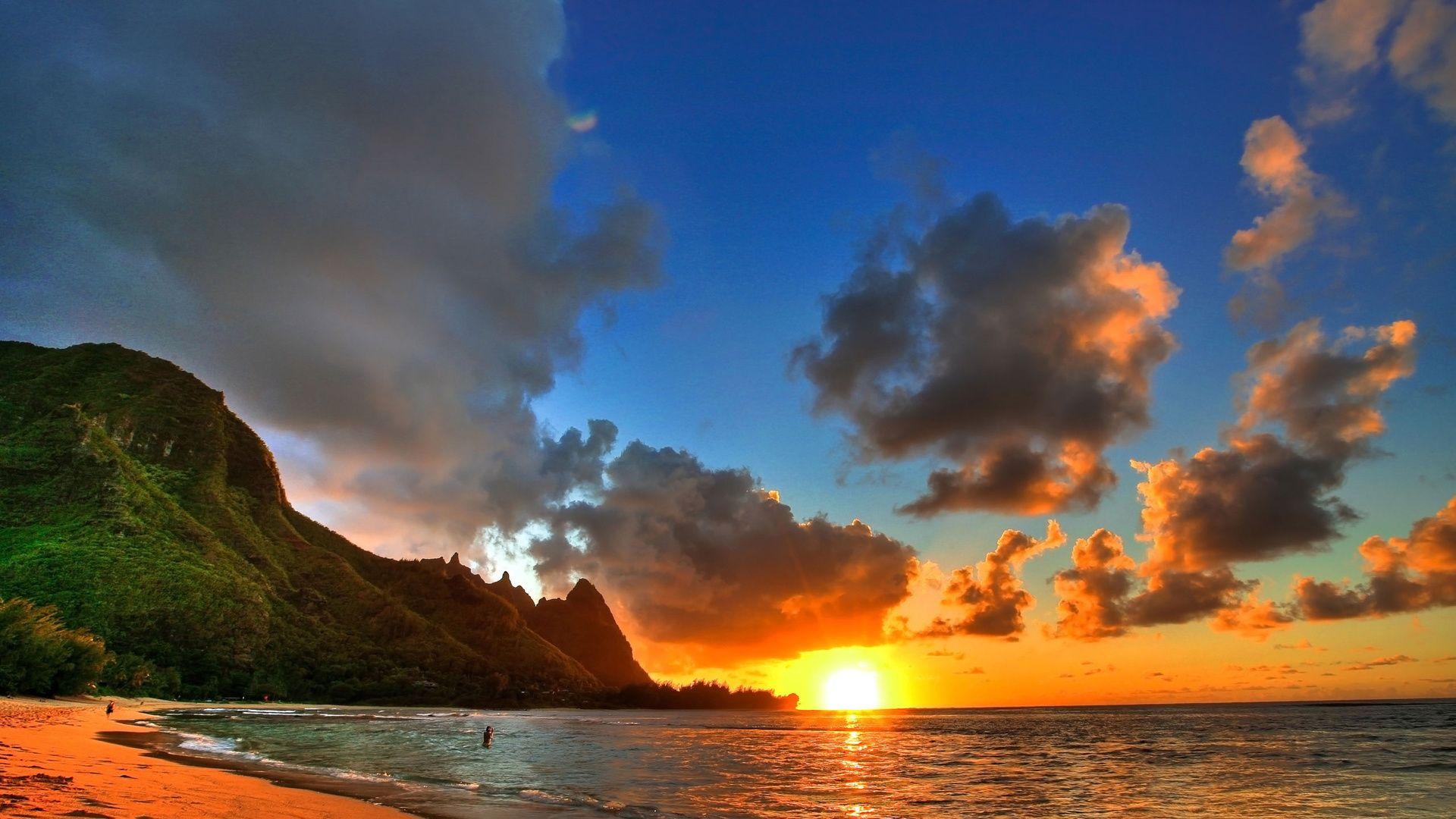 Ocean Sunset Nice Wallpaper