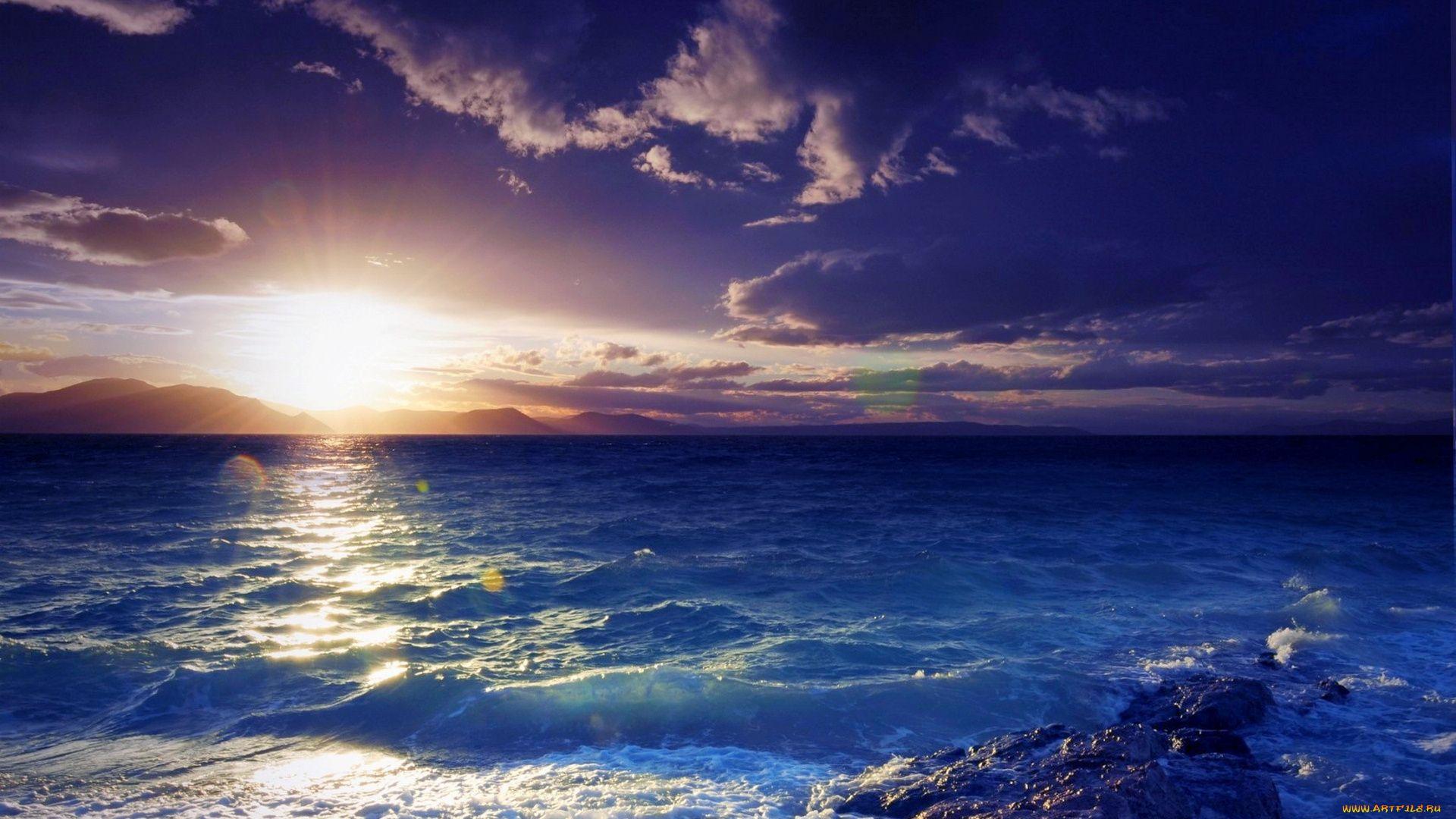 Ocean Sunset full wallpaper