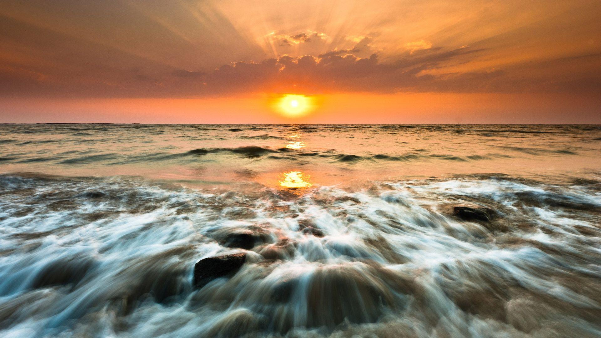 Ocean Sunset wallpaper photo