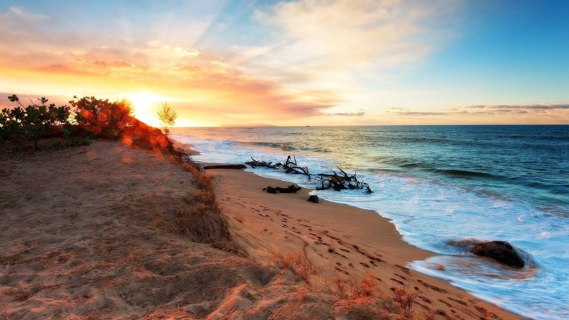 Ocean Sunset download wallpaper image