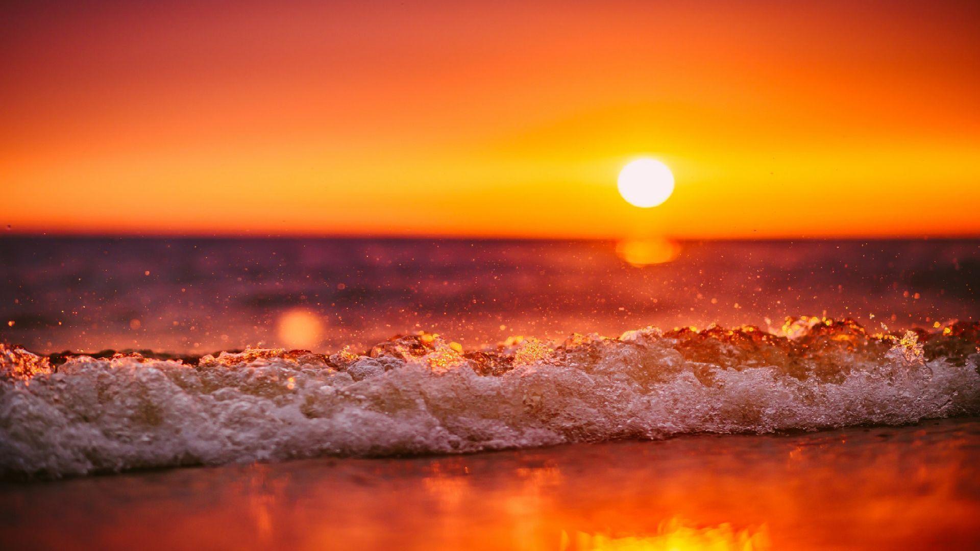 Ocean Sunset free hd wallpaper