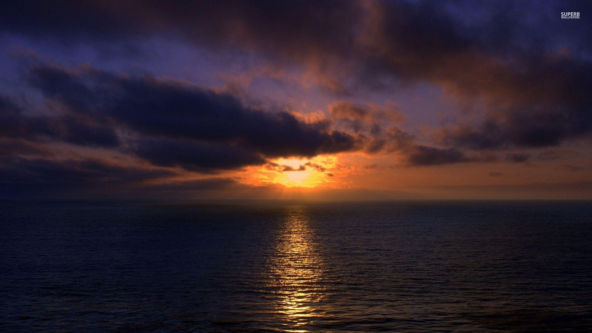 Ocean Sunset wallpaper image hd