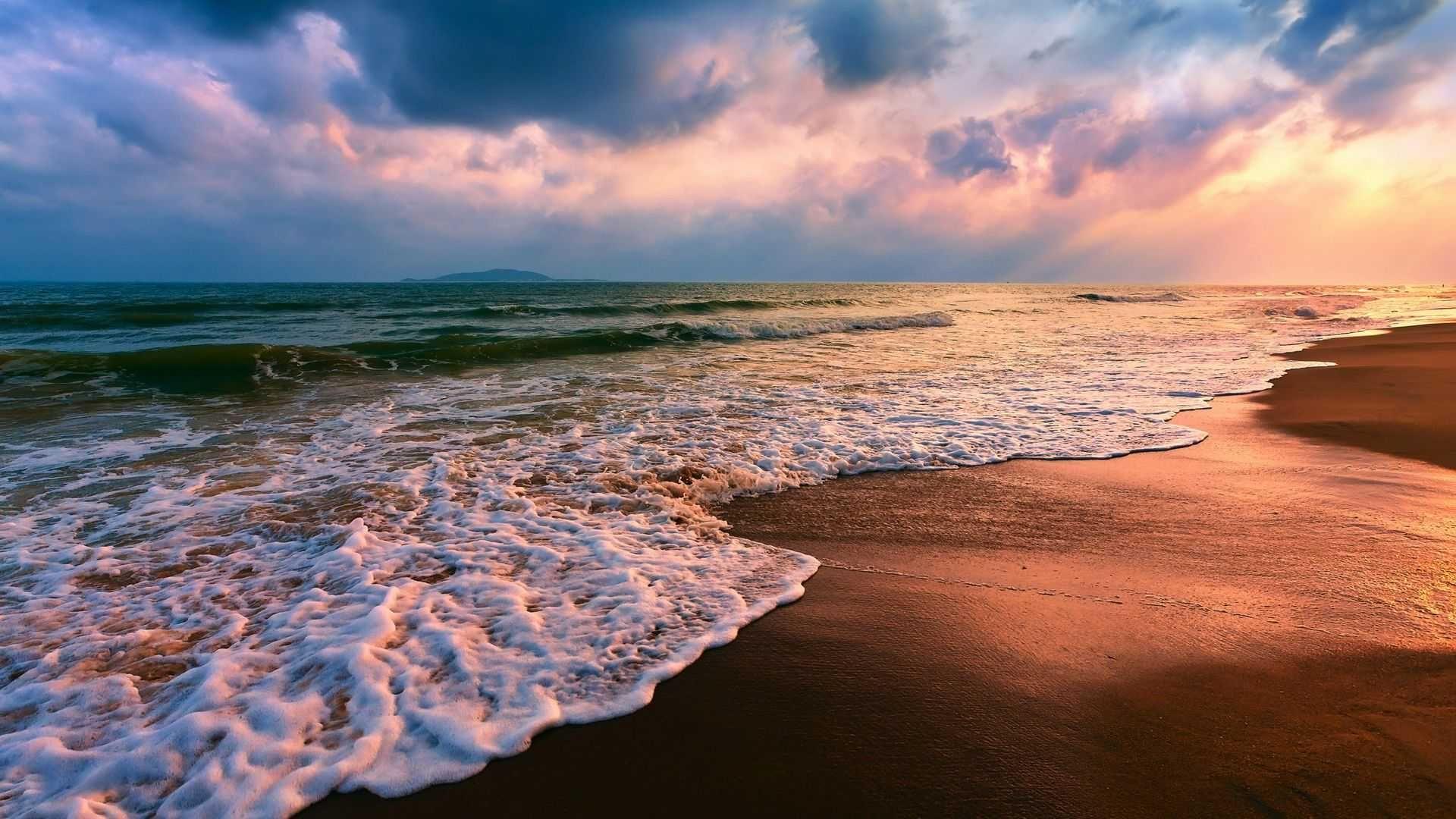 Ocean Sunset Desktop Wallpaper