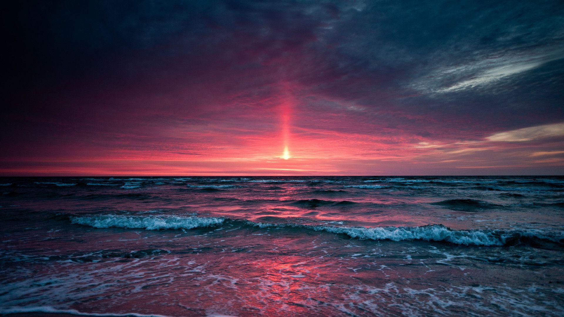 Ocean Sunset hd wallpaper download