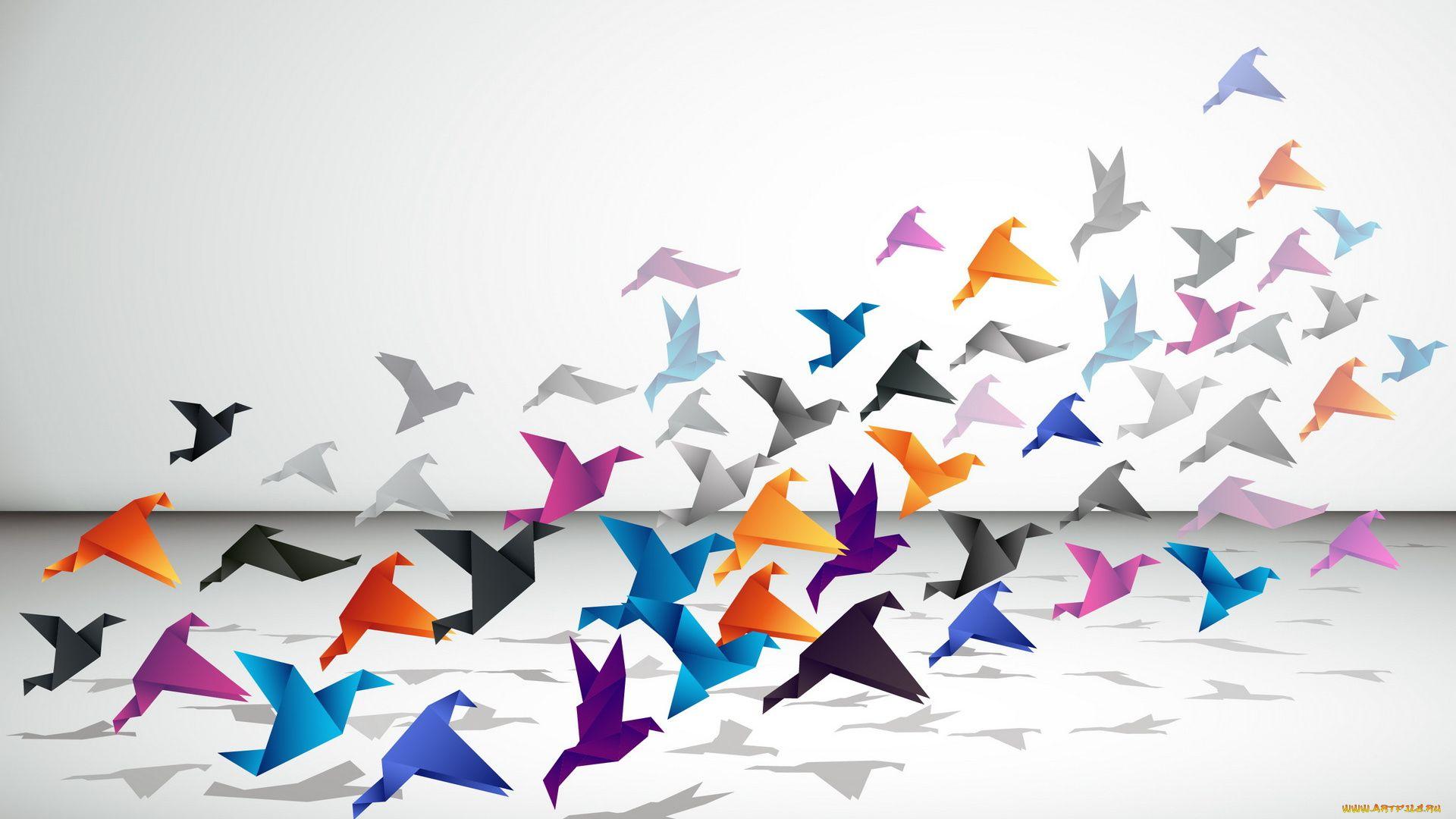Origami desktop background