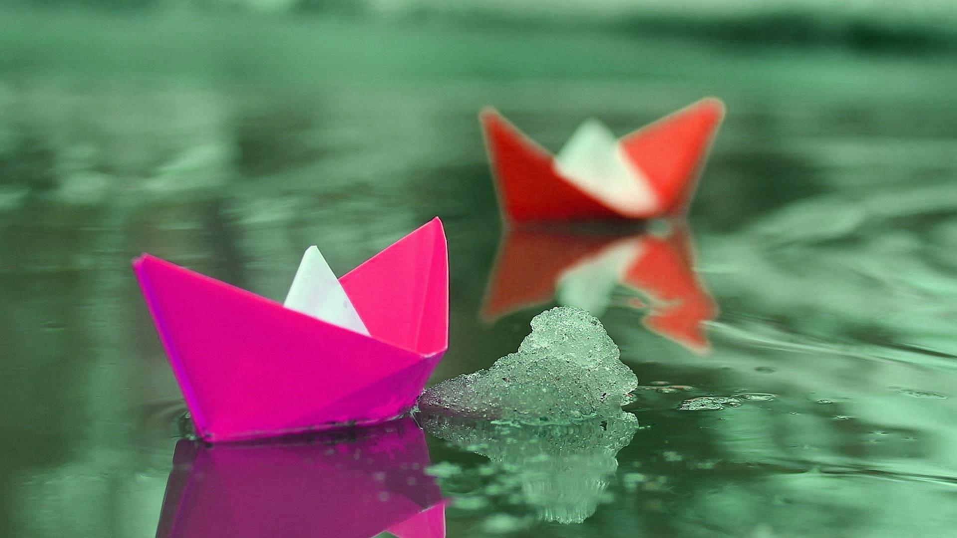 Origami picture wallpaper