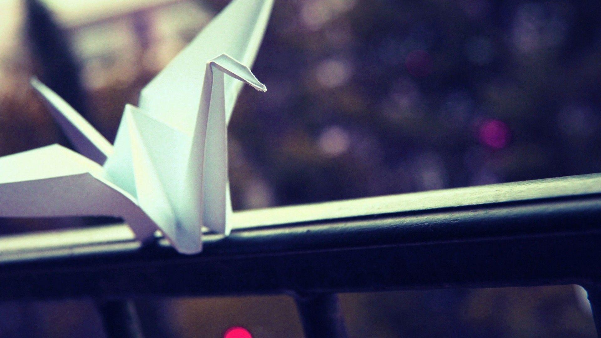 Origami laptop wallpaper