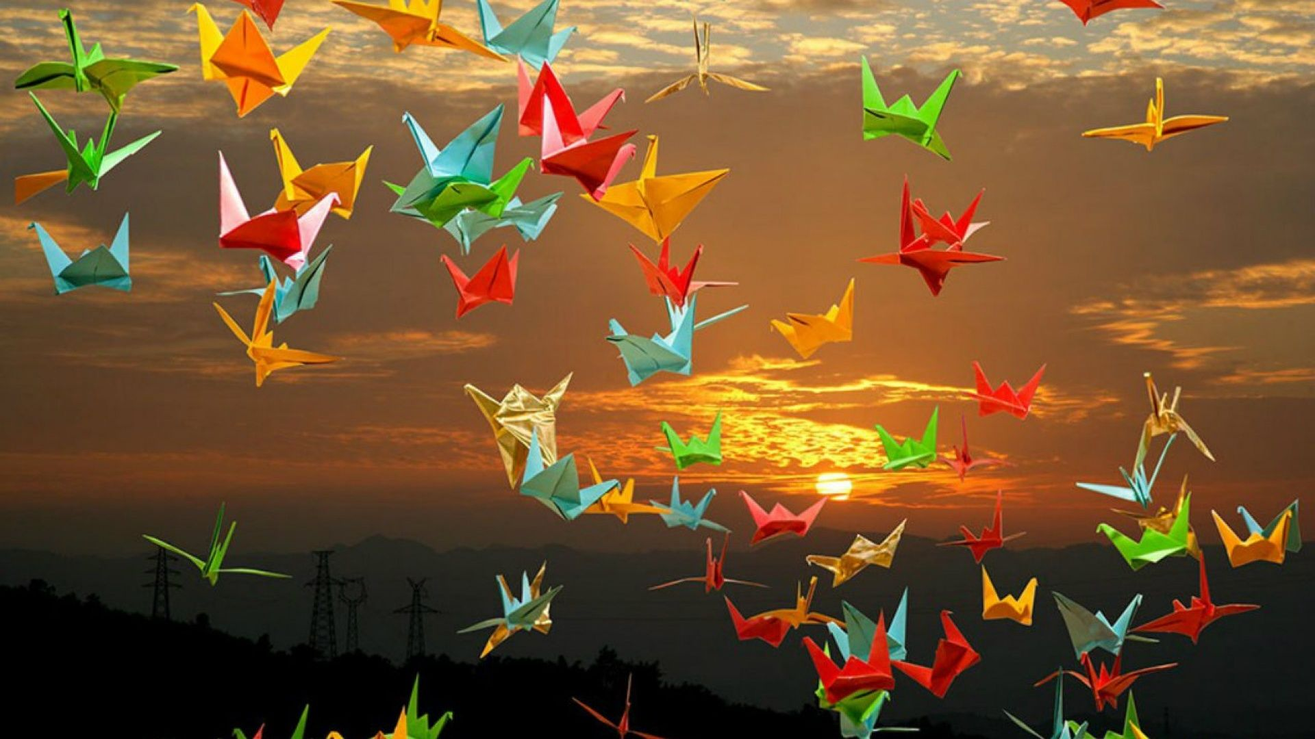 Origami background picture hd