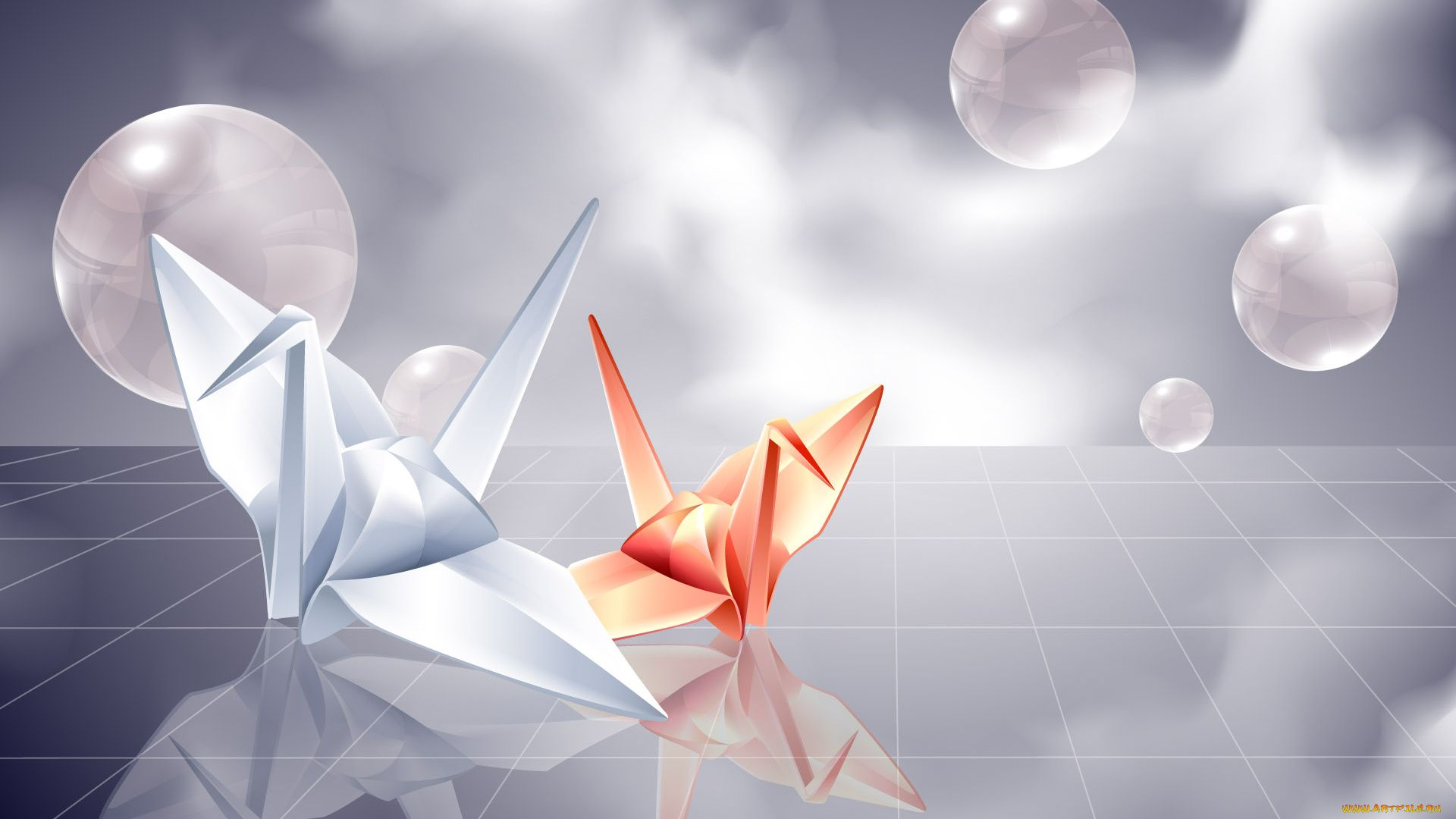 Origami picture image