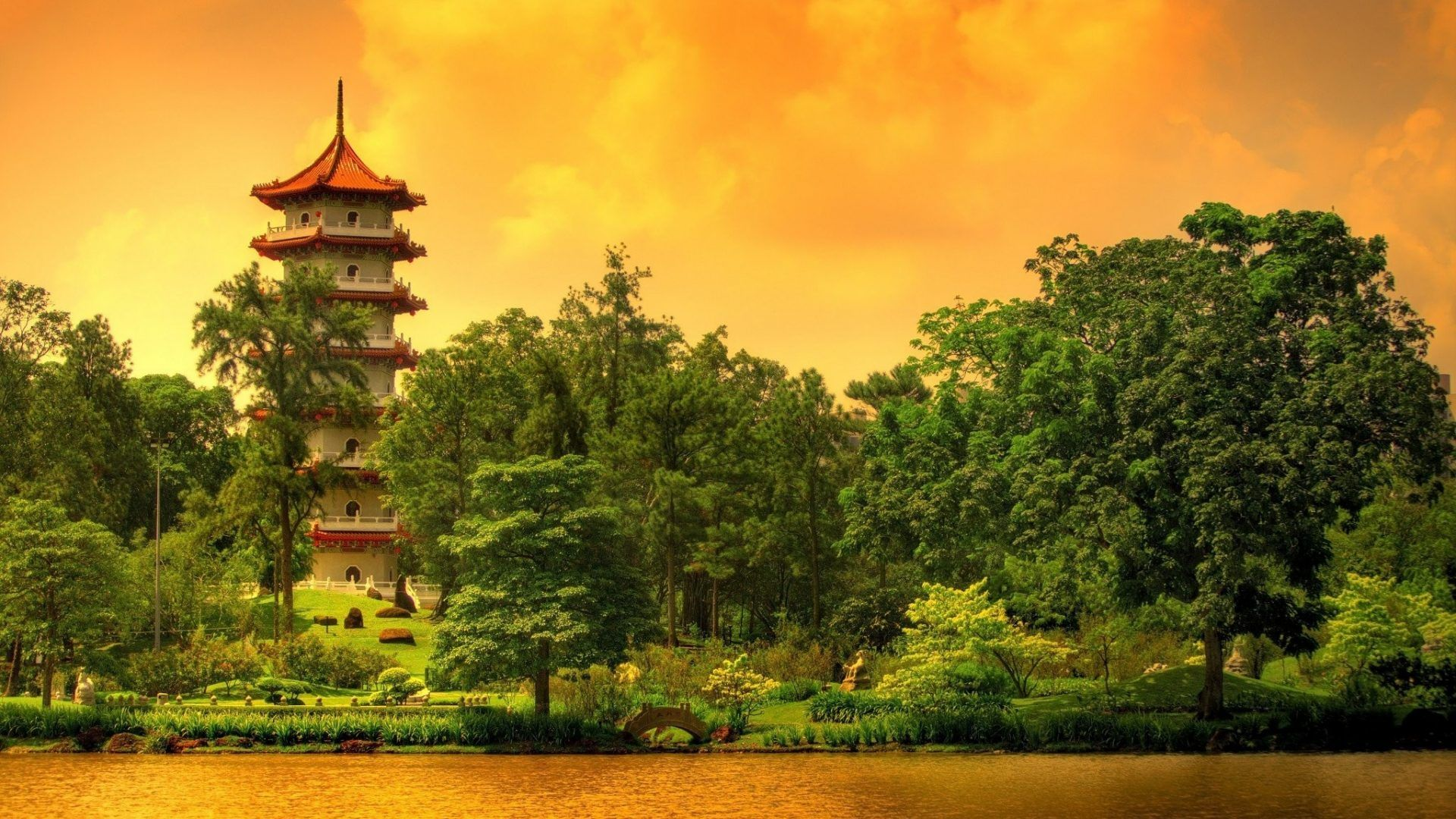 Pagoda good wallpaper hd