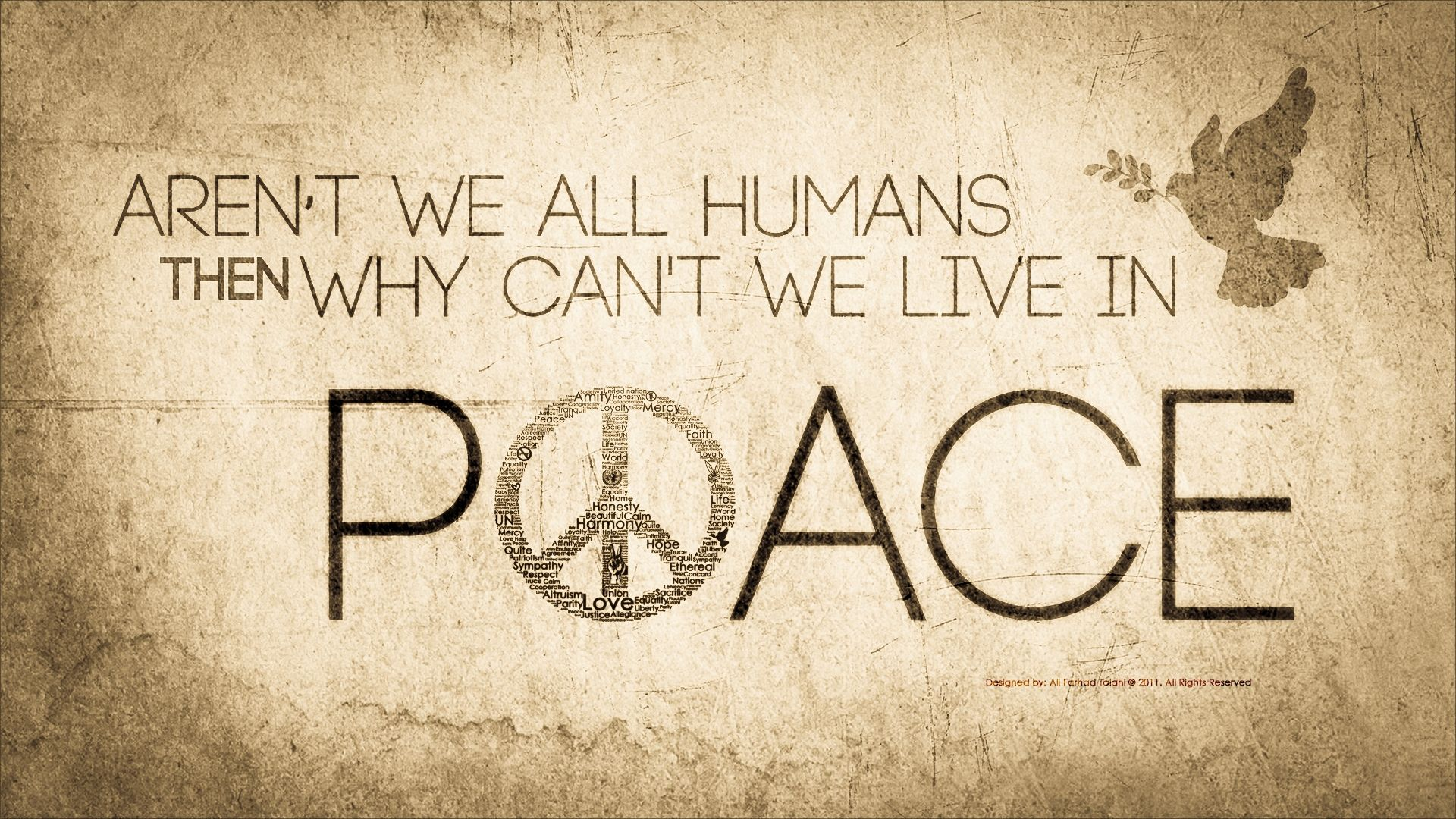 Peace free desktop background