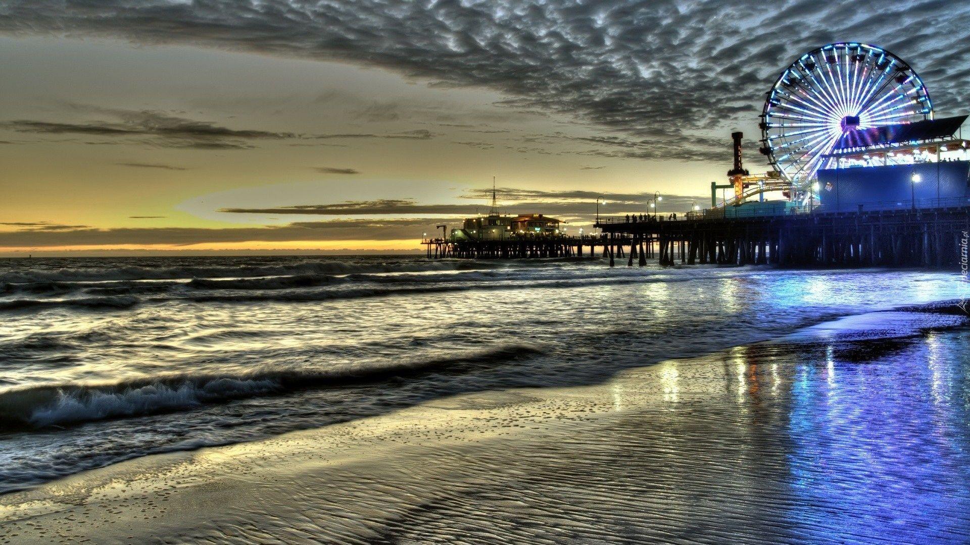 Santa Monica hd wallpaper 1080p for pc