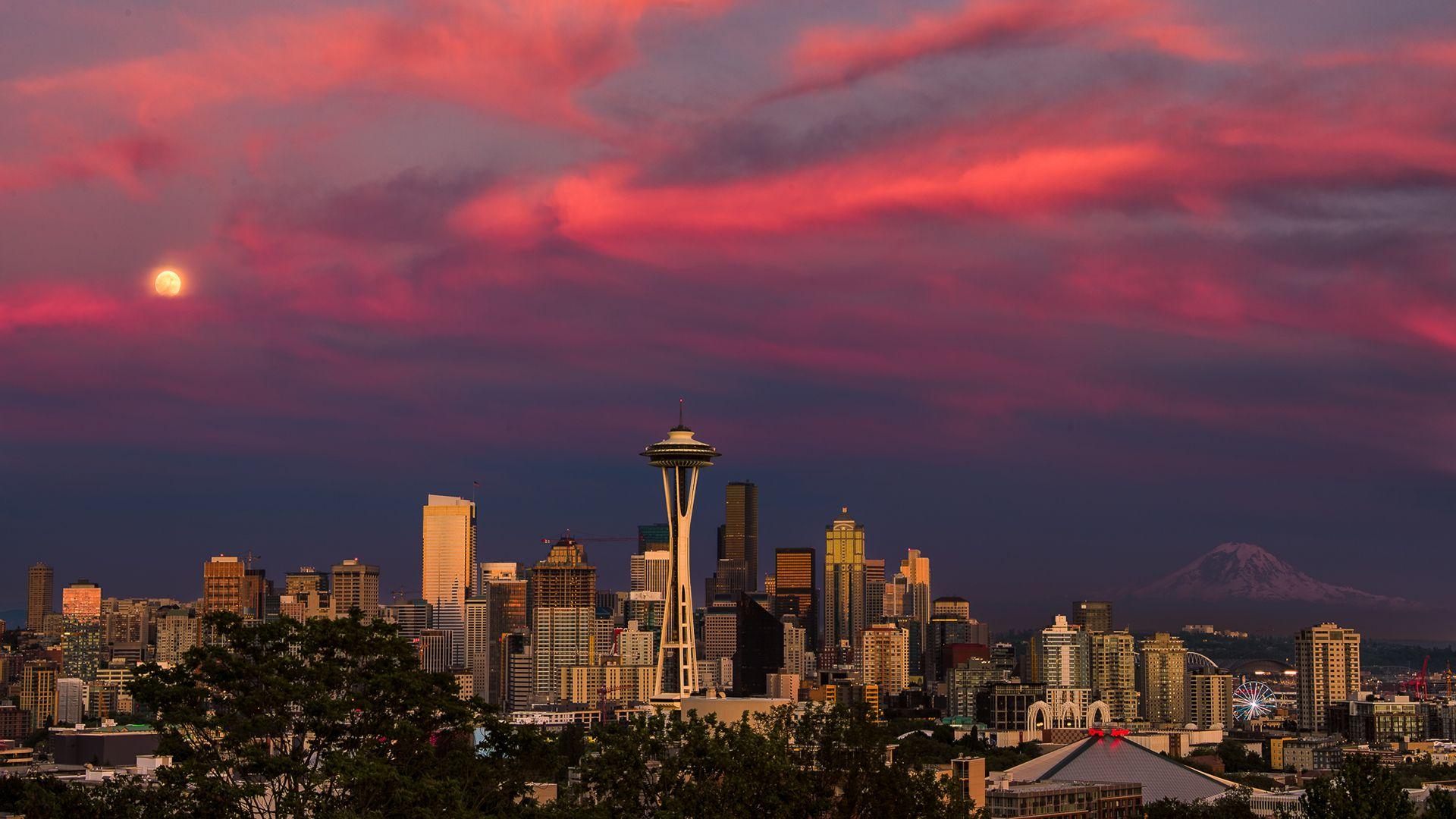 Seattle full hd wallpaper