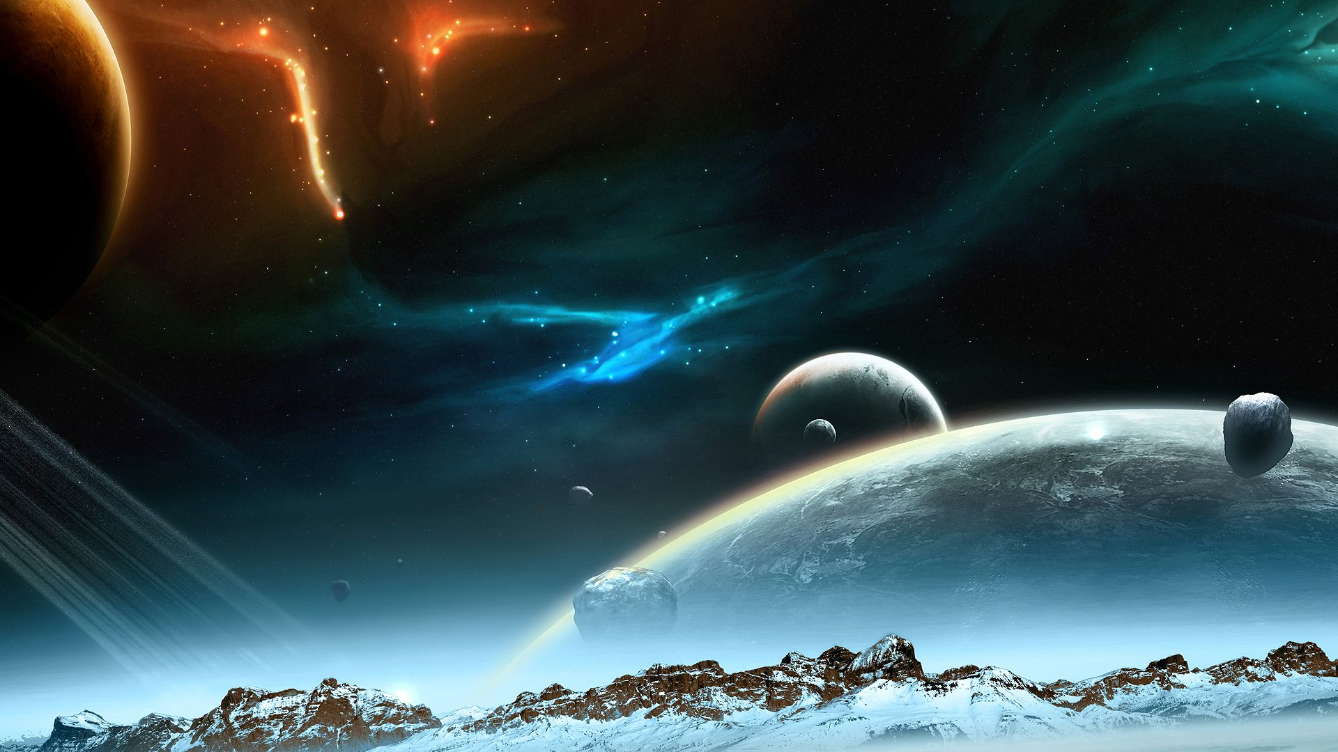 Space Themed PC Wallpaper