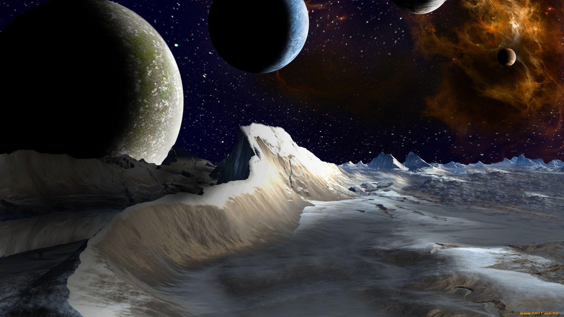 Space Themed full hd wallpaper