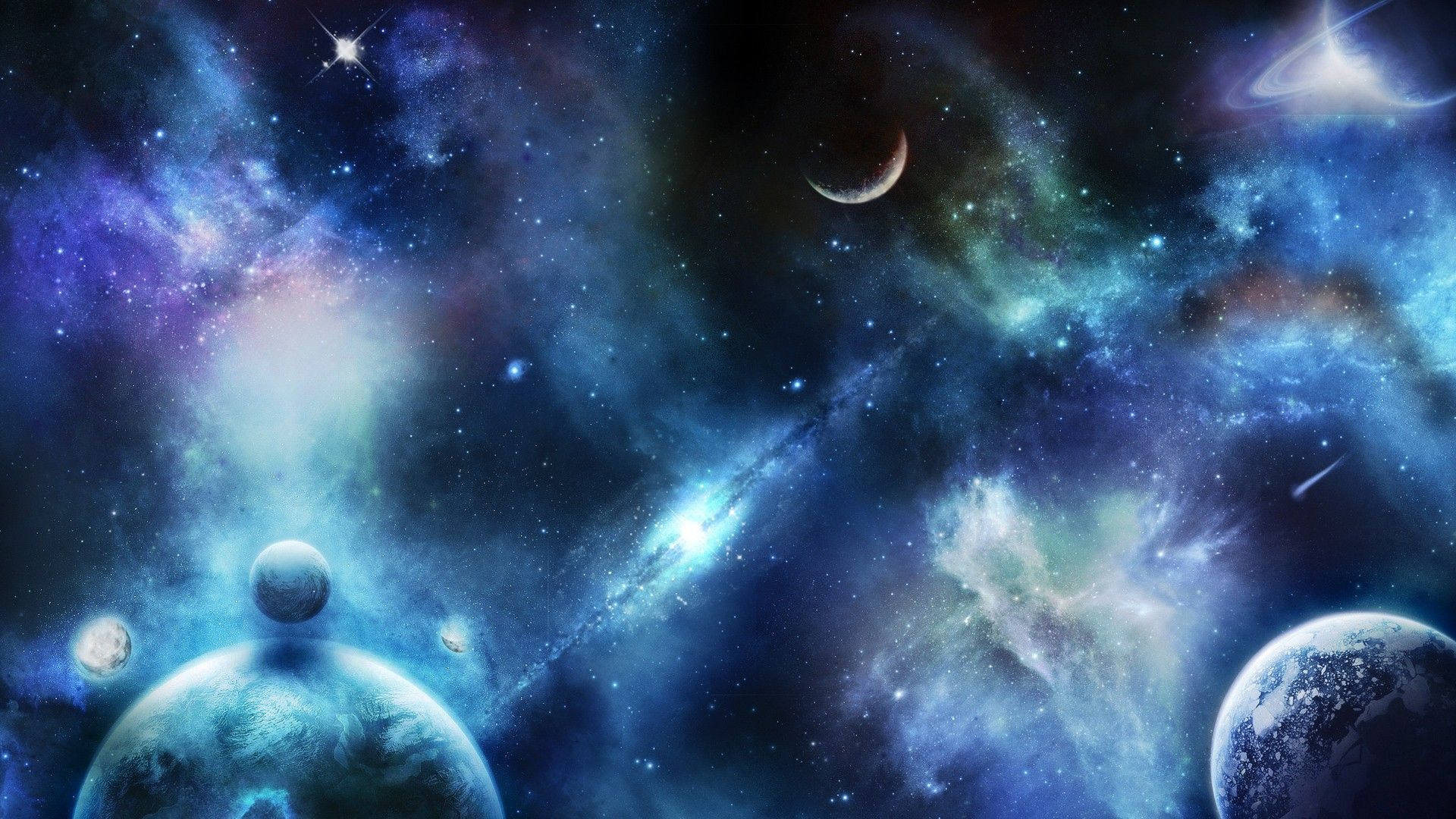 Space Themed Cool HD Wallpaper