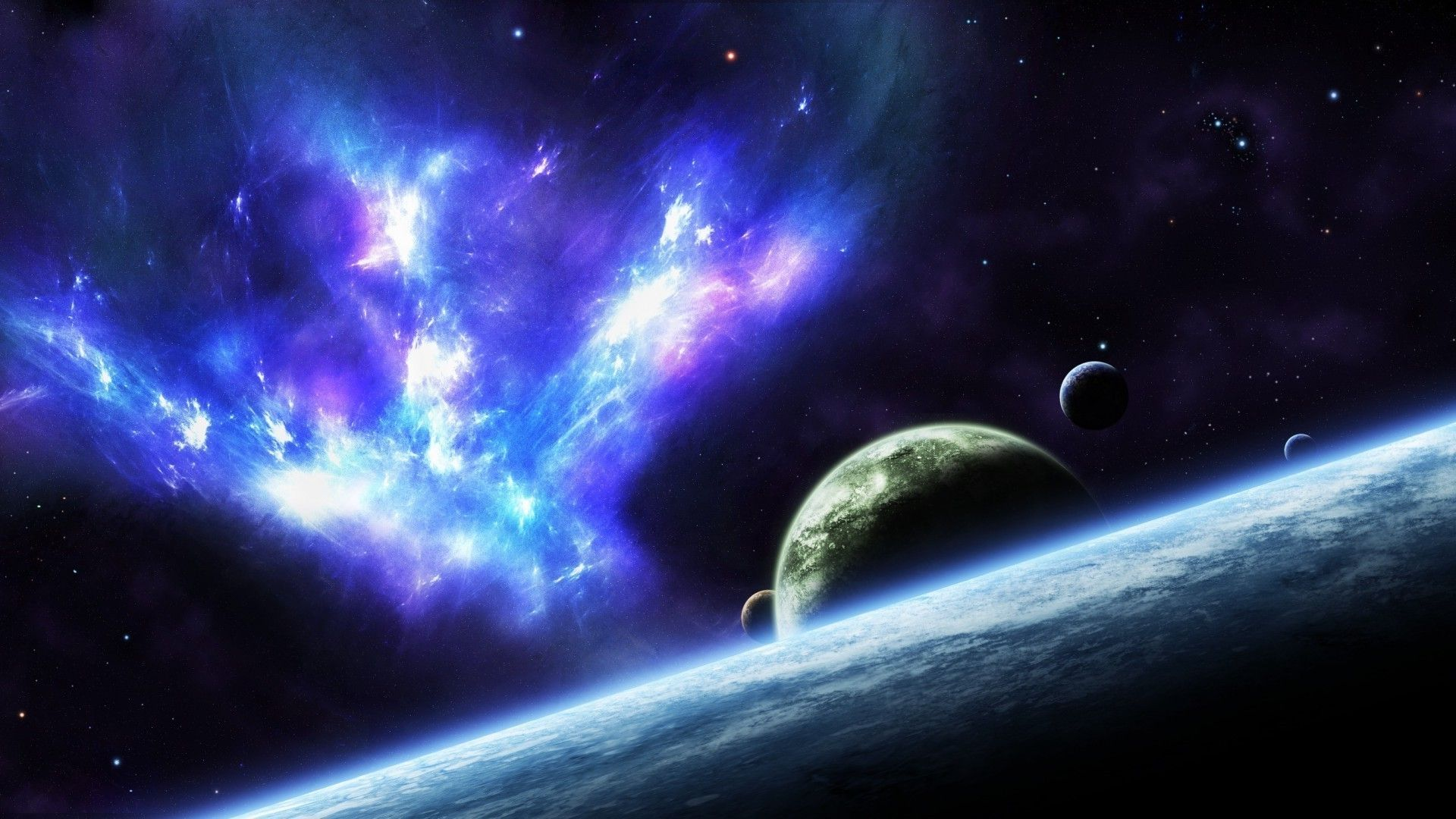 Space Themed hd wallpaper 1080
