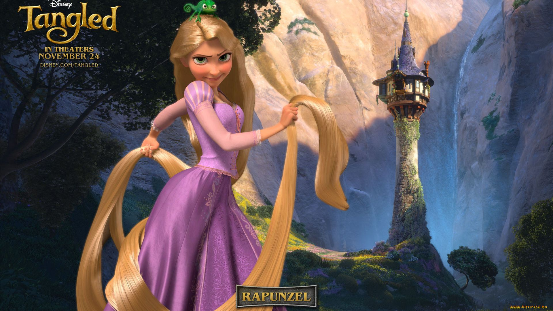 Tangled 1080p background