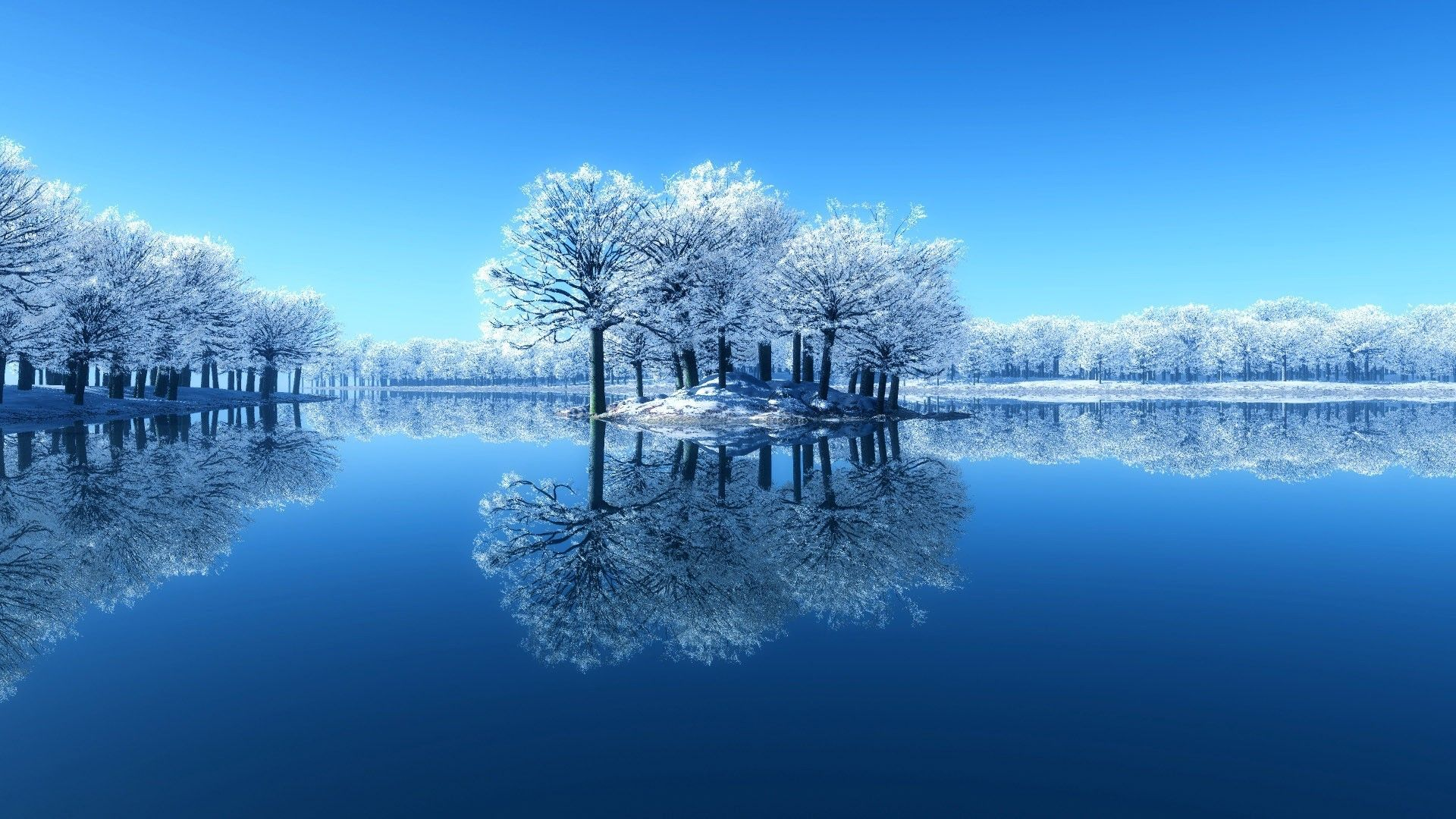 Winter Scene Free Wallpaper and Background
