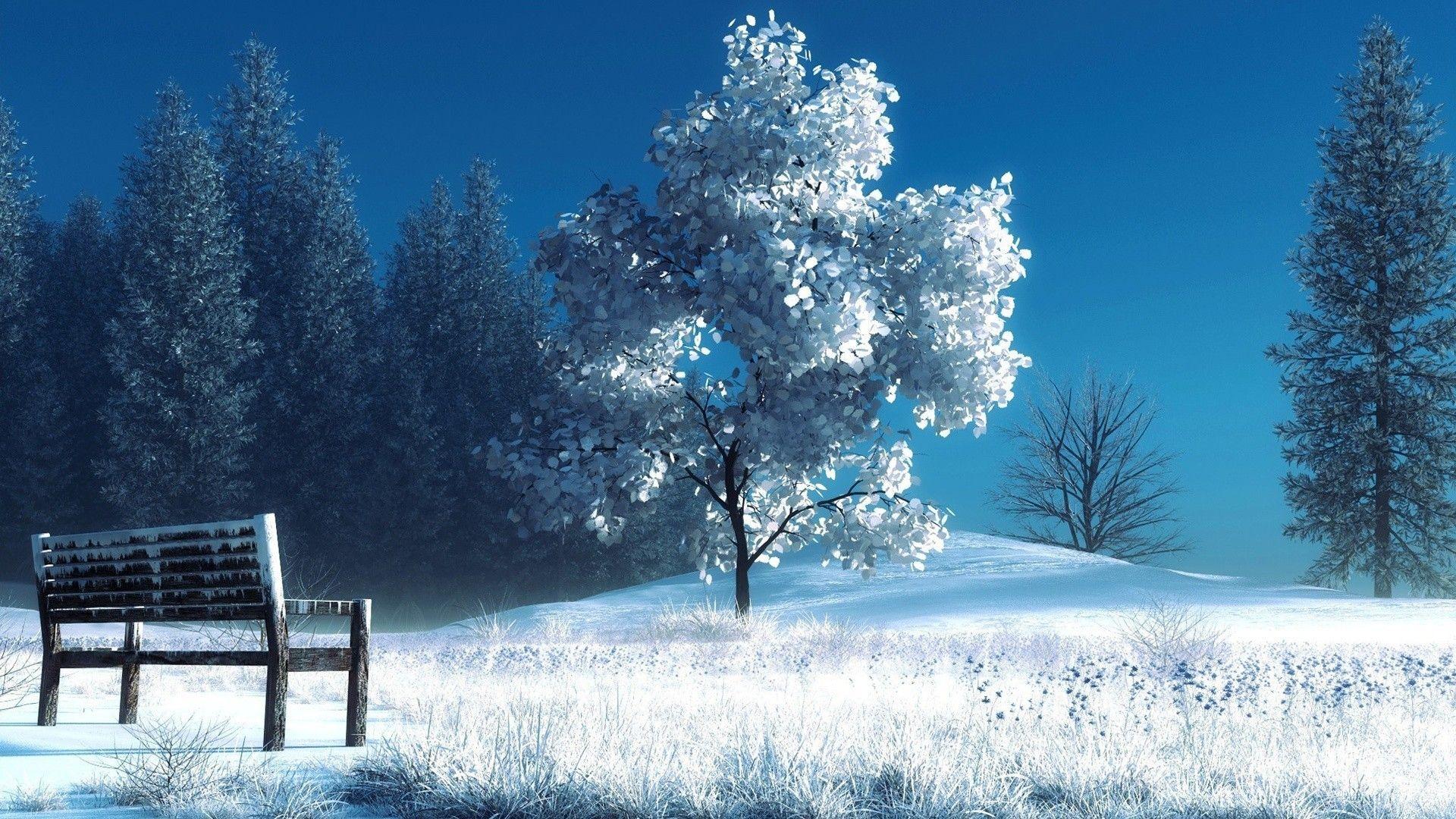 Winter Scene good wallpaper hd