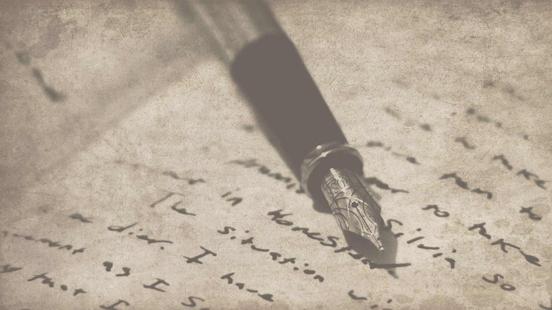 Writing wallpaper free