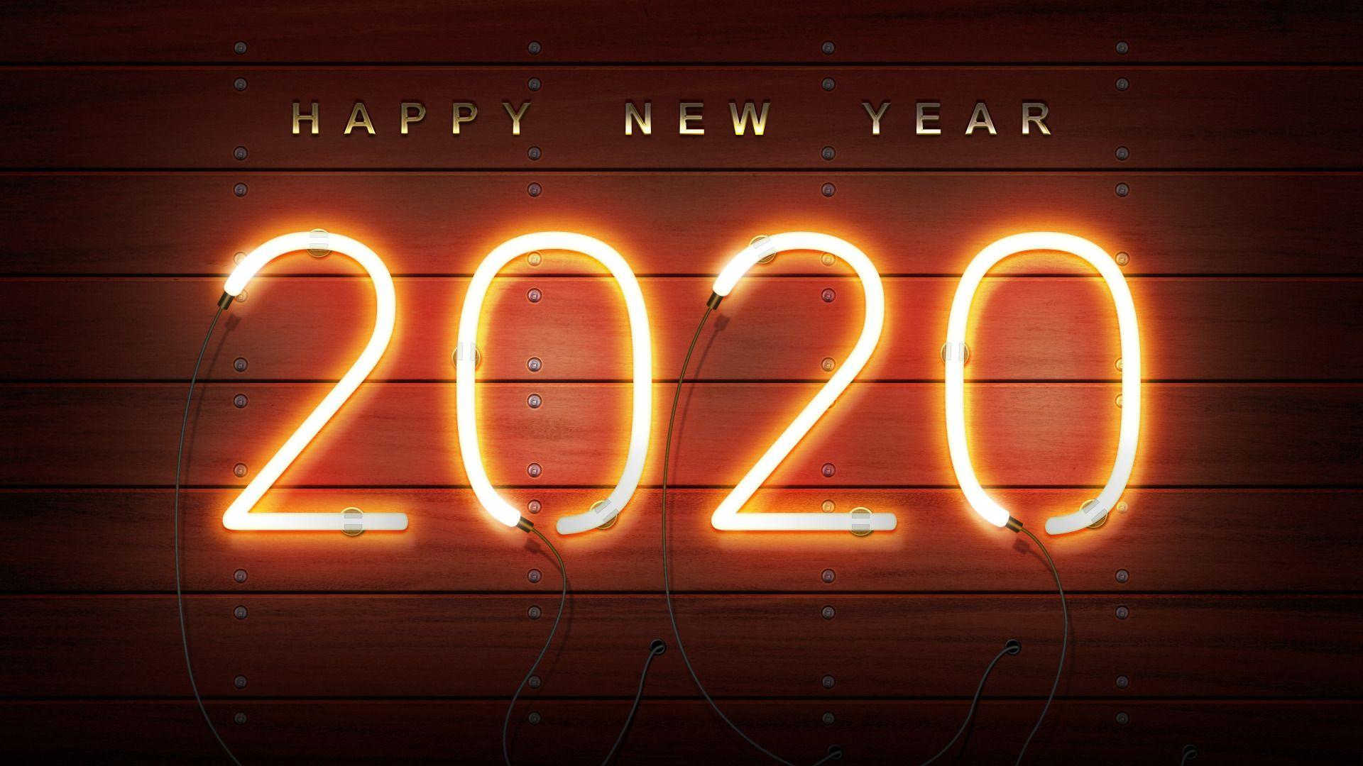 2020 New Year screen wallpaper