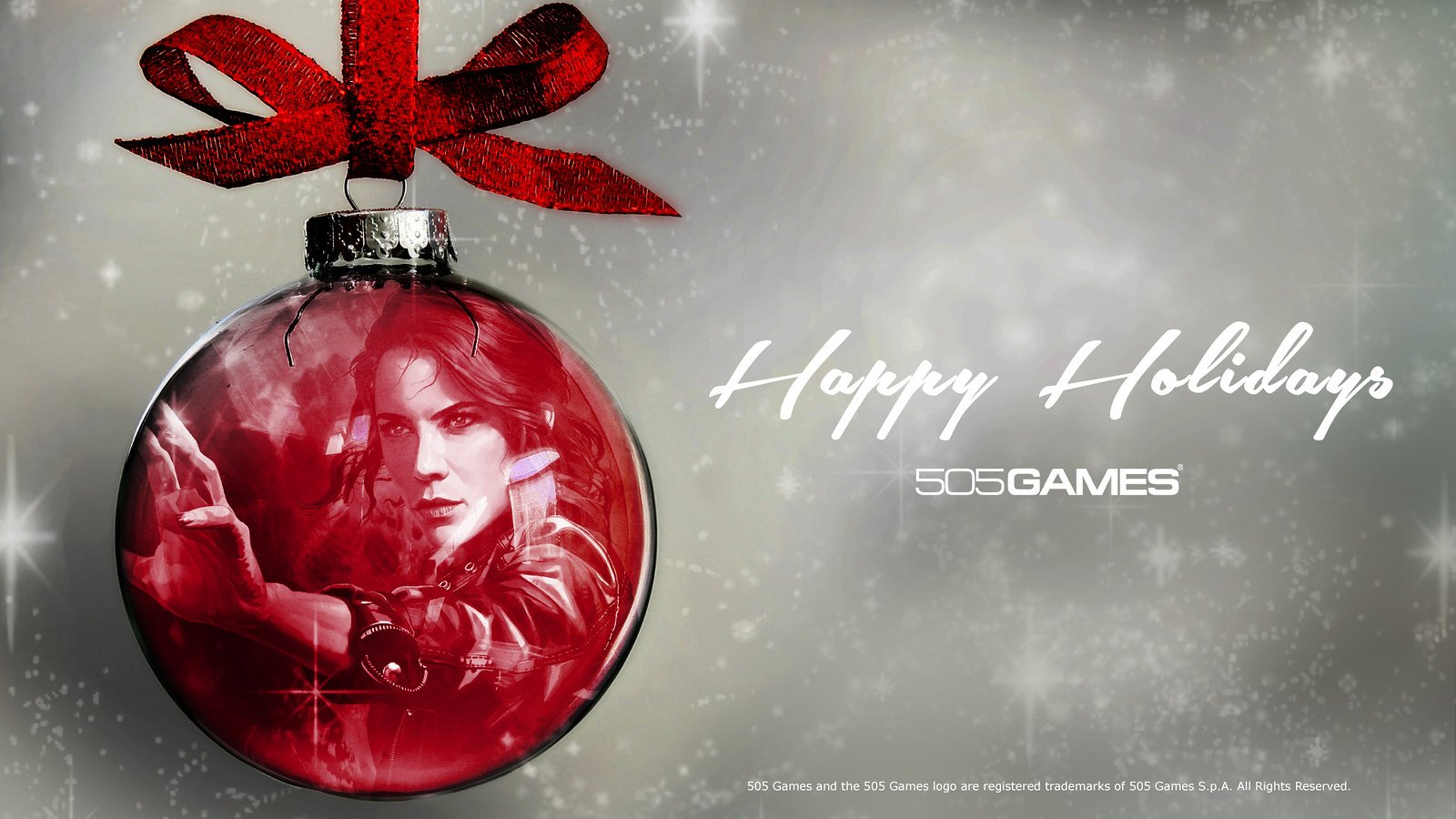 505 Games Happy Holidays PC Wallpaper