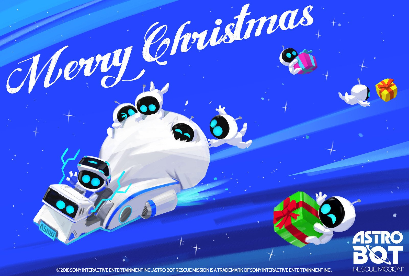 Astro Bot Happy Holidays Wallpaper