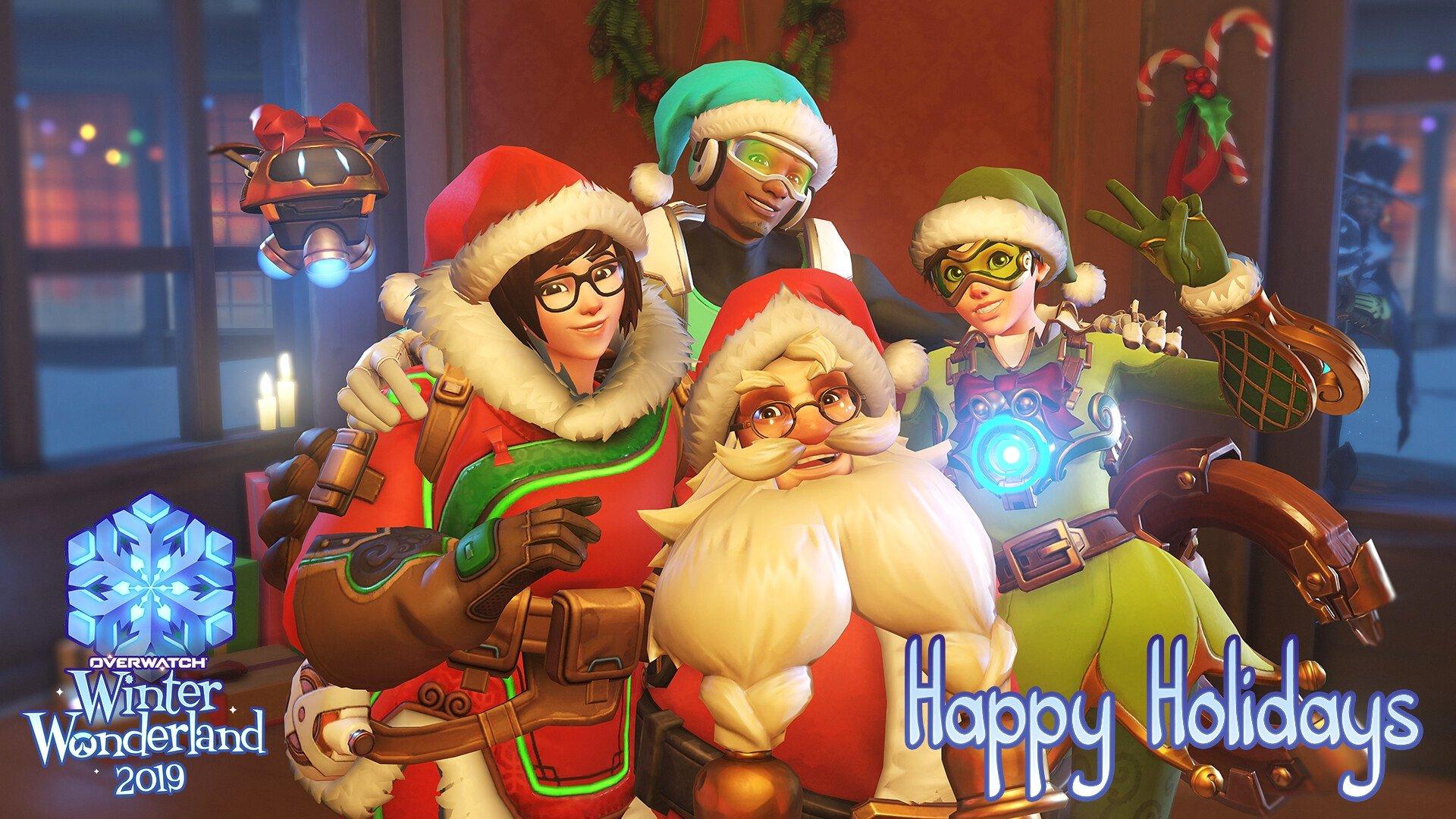 Blizzard Happy Holidays Wallpaper