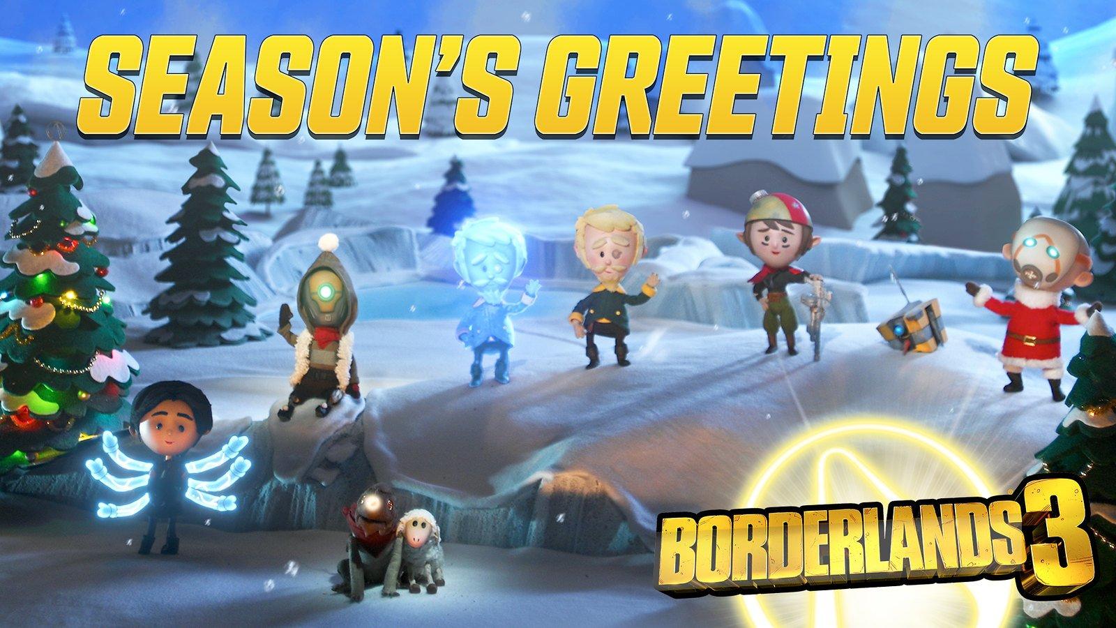 Borderlands 3 Happy Holidays Wallpaper