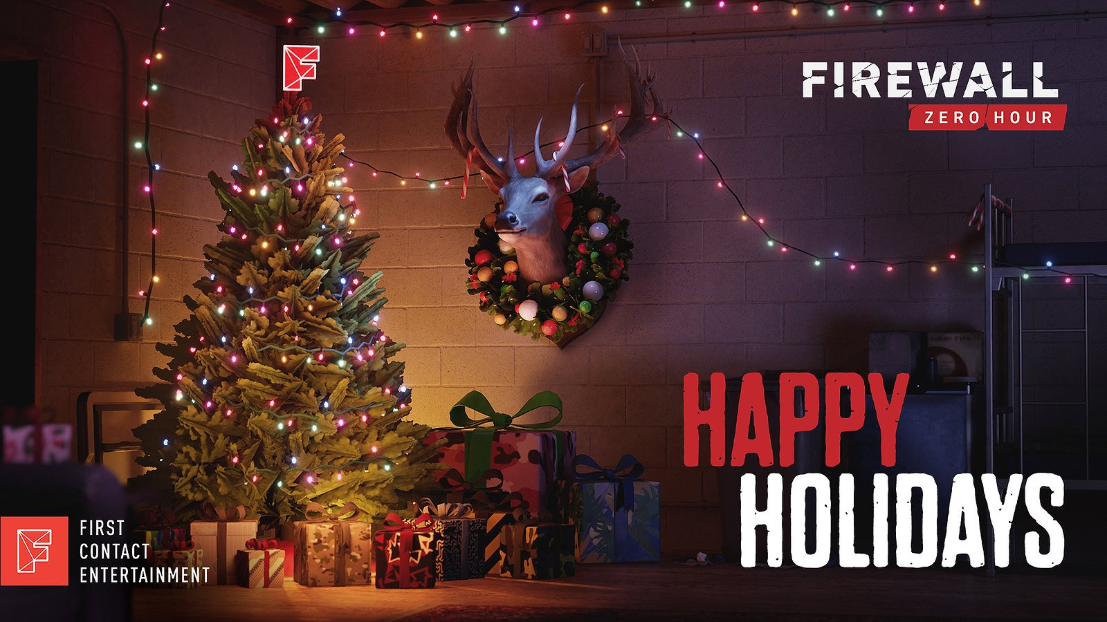 First Contact Entertainment Happy Holidays Wallpaper
