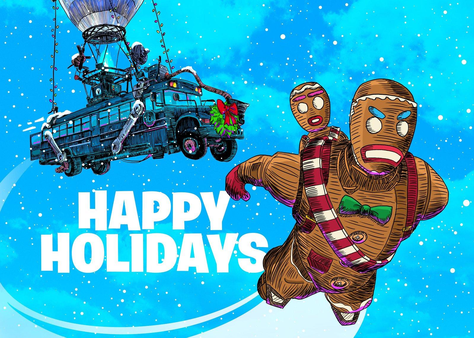 Fortnite Happy Holidays Wallpaper