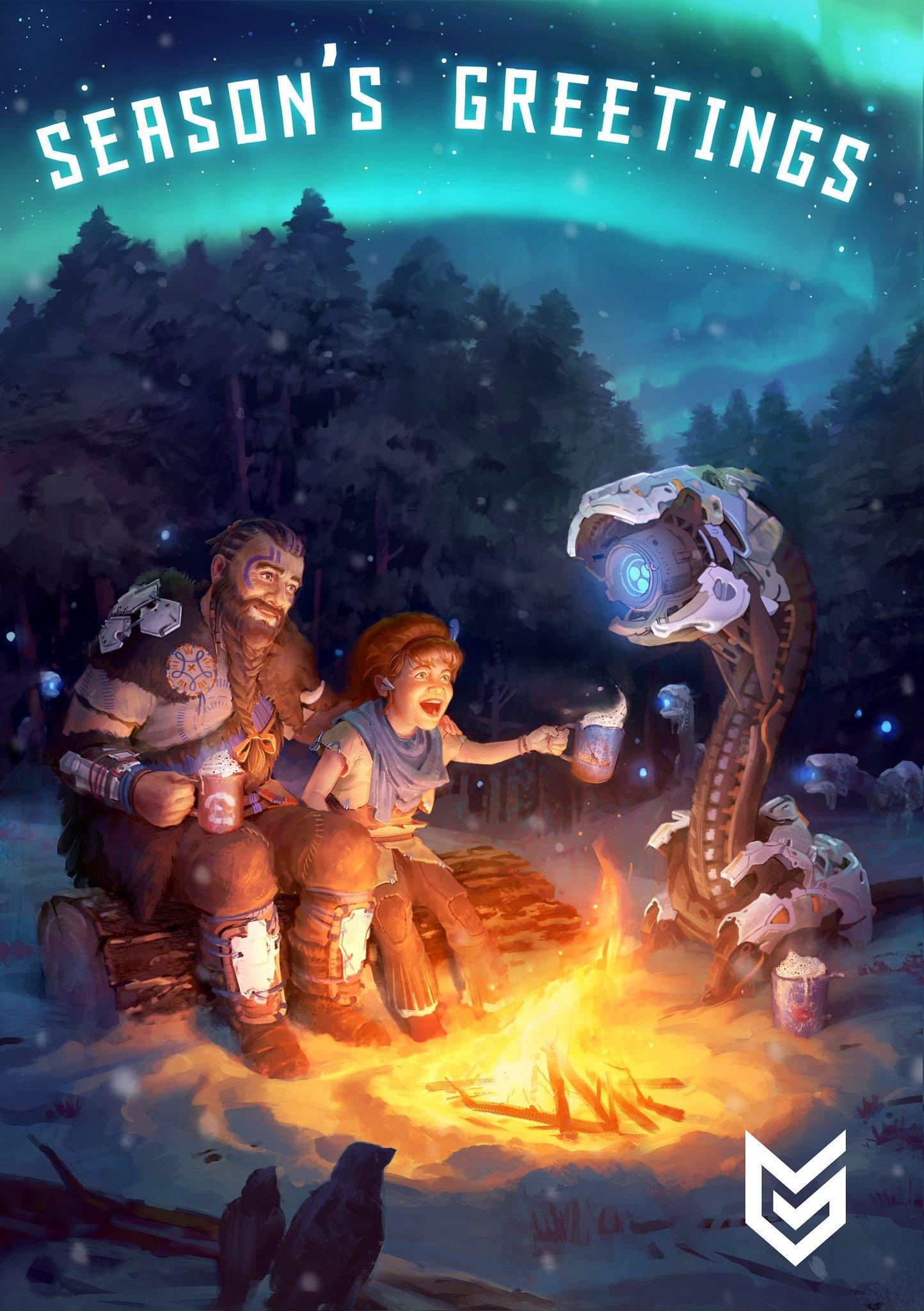 Guerrilla Games Happy Holidays Wallpaper