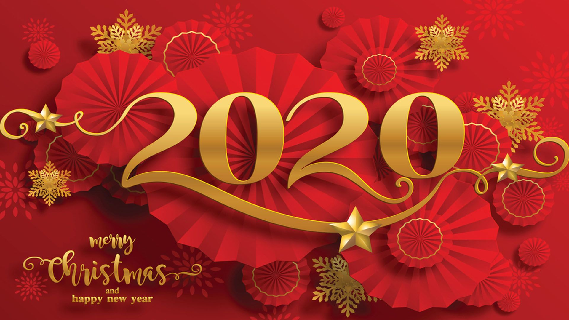 Happy New Year 2020 Free Desktop Wallpaper