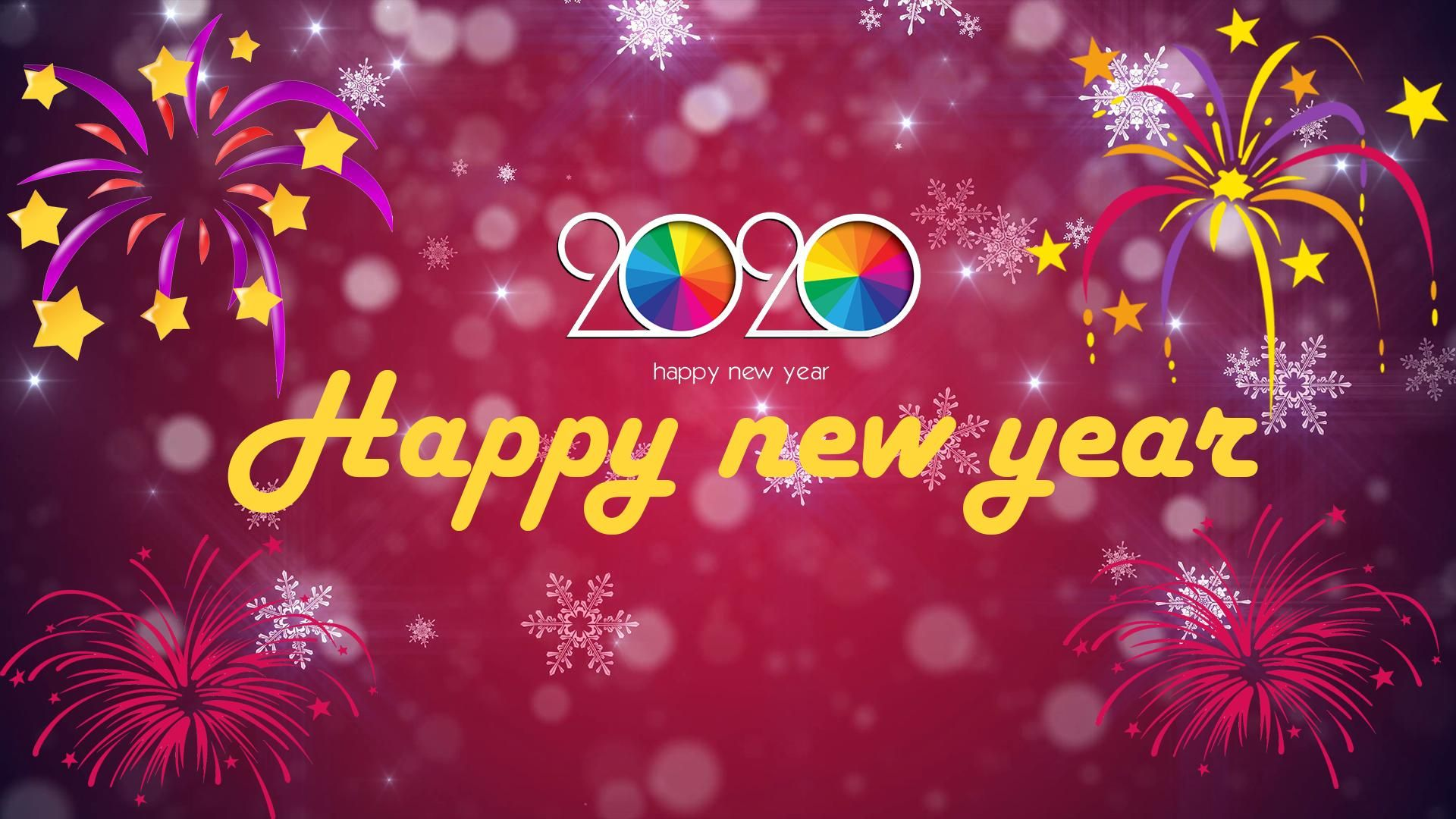 Happy New Year 2020 hd wallpaper 1080