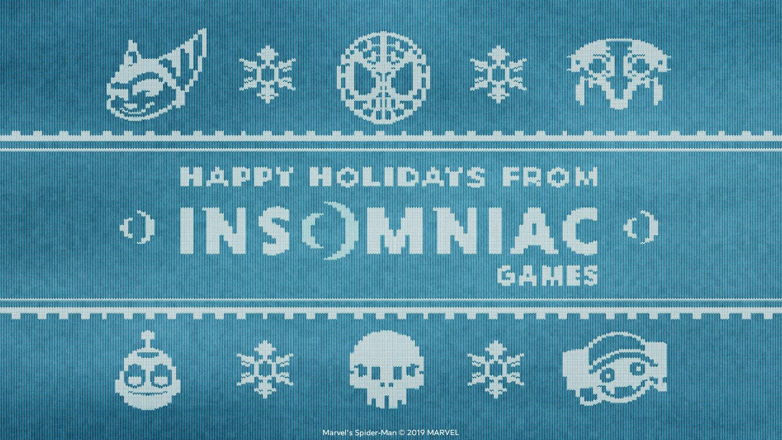 Insomniac Games Happy Holidays wallpaper