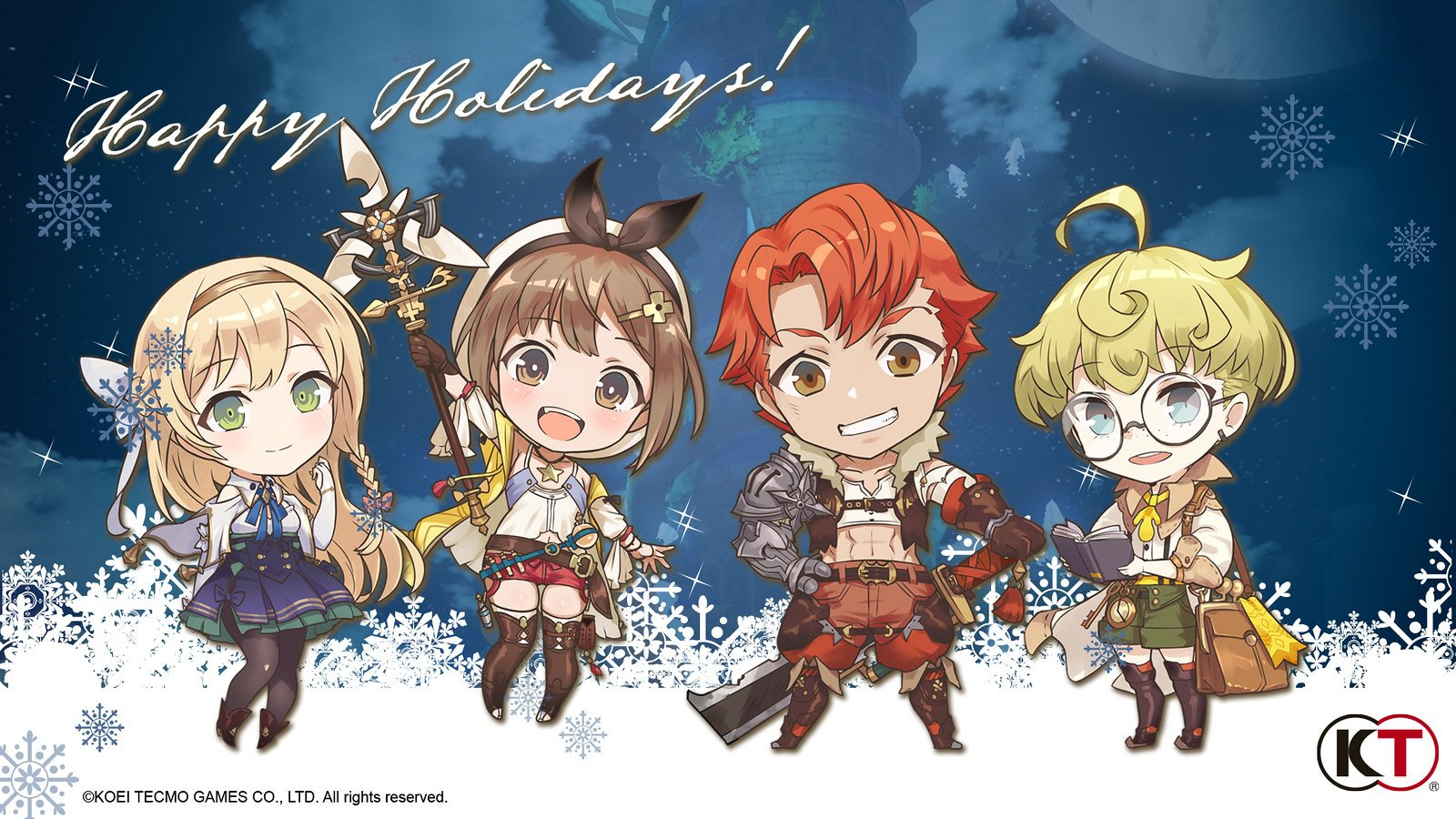 Koei Tecmo Happy Holidays Wallpaper