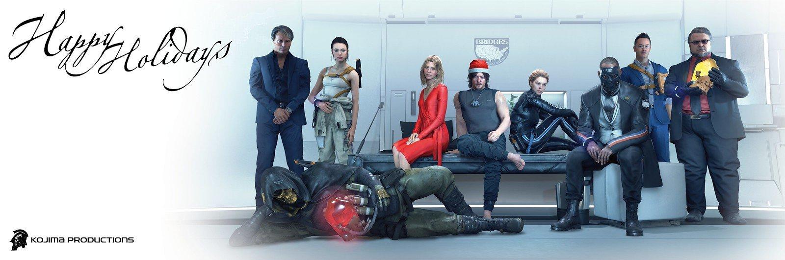 Kojima Productions Happy Holidays wallpaper