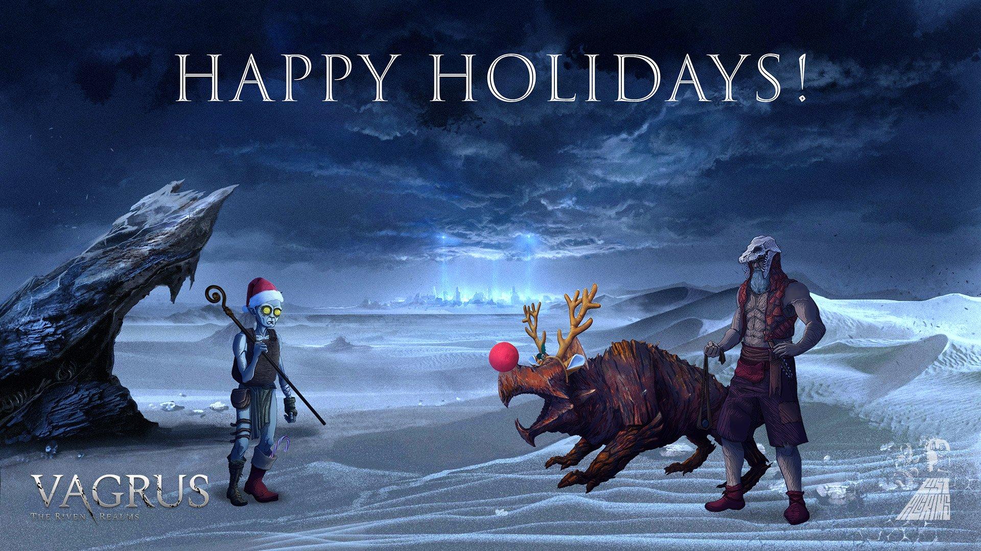 Lost Pilgrims Studio Happy Holidays wallpaper
