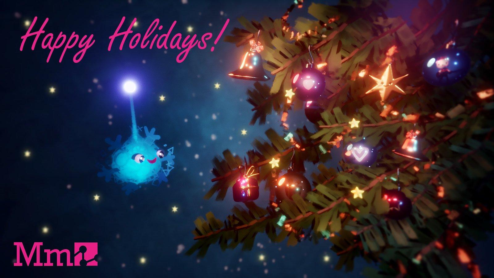 Media Molecule Happy Holidays Free Wallpaper
