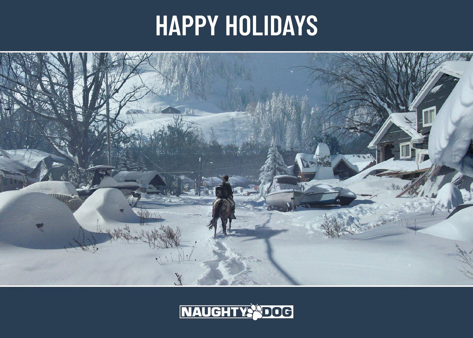 Naughty Dog Happy Holidays Wallpaper
