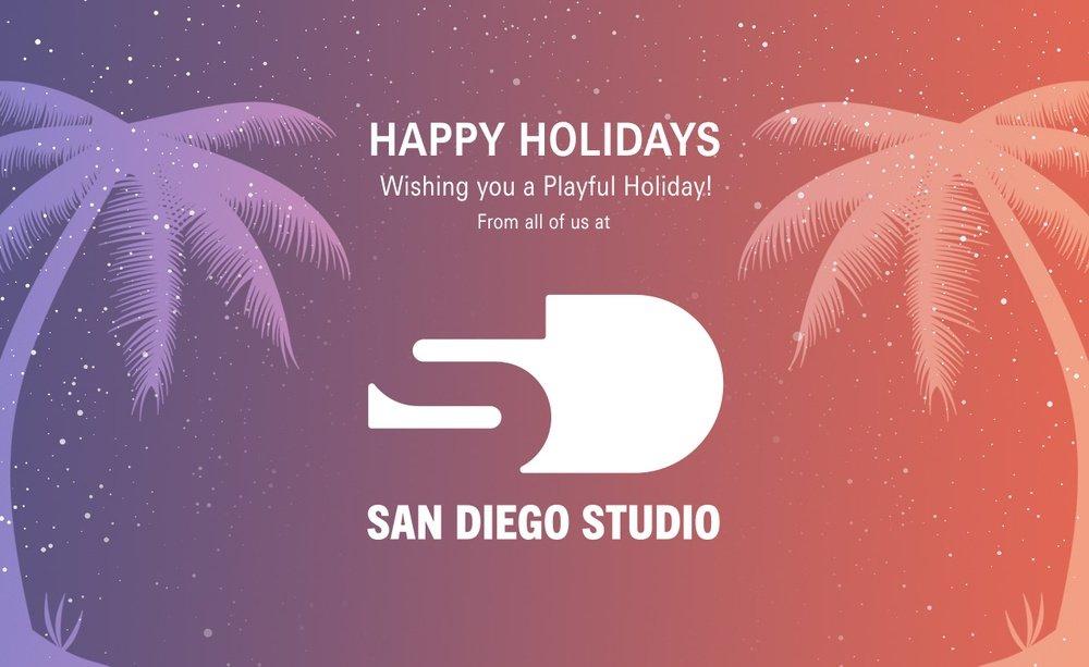 San Diego Studio Happy Holidays