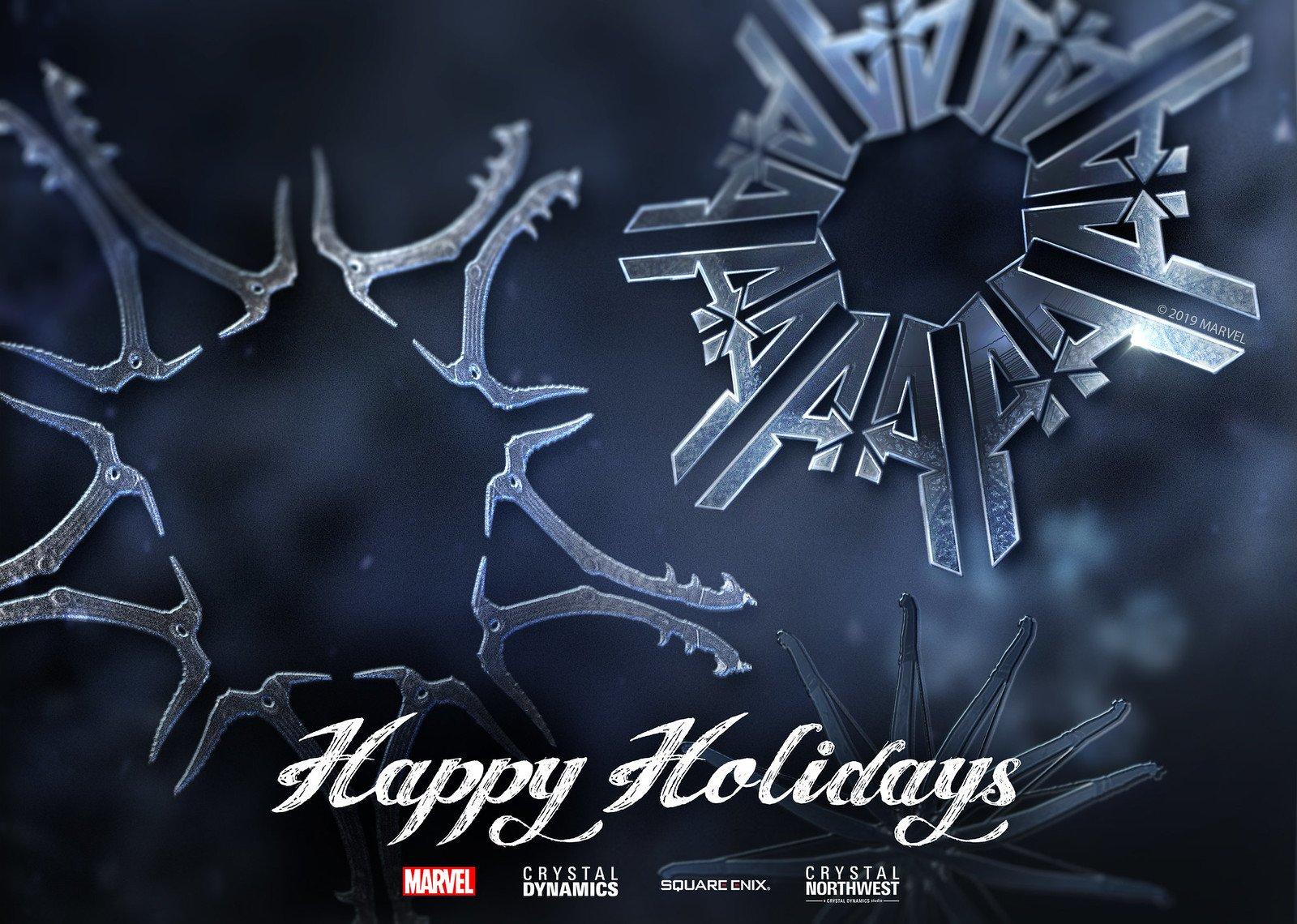 Square Enix Happy Holidays Wallpaper