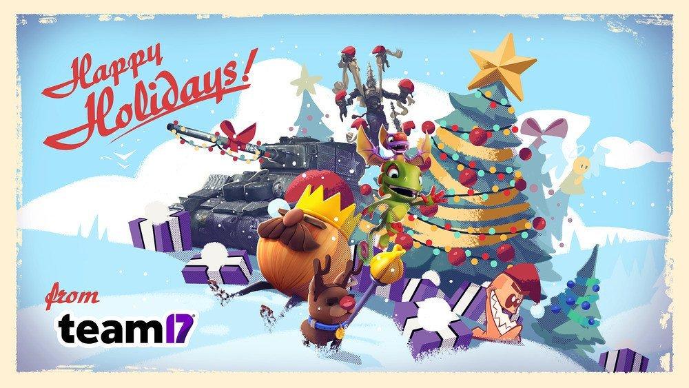 Team17 Happy Holidays Wallpaper